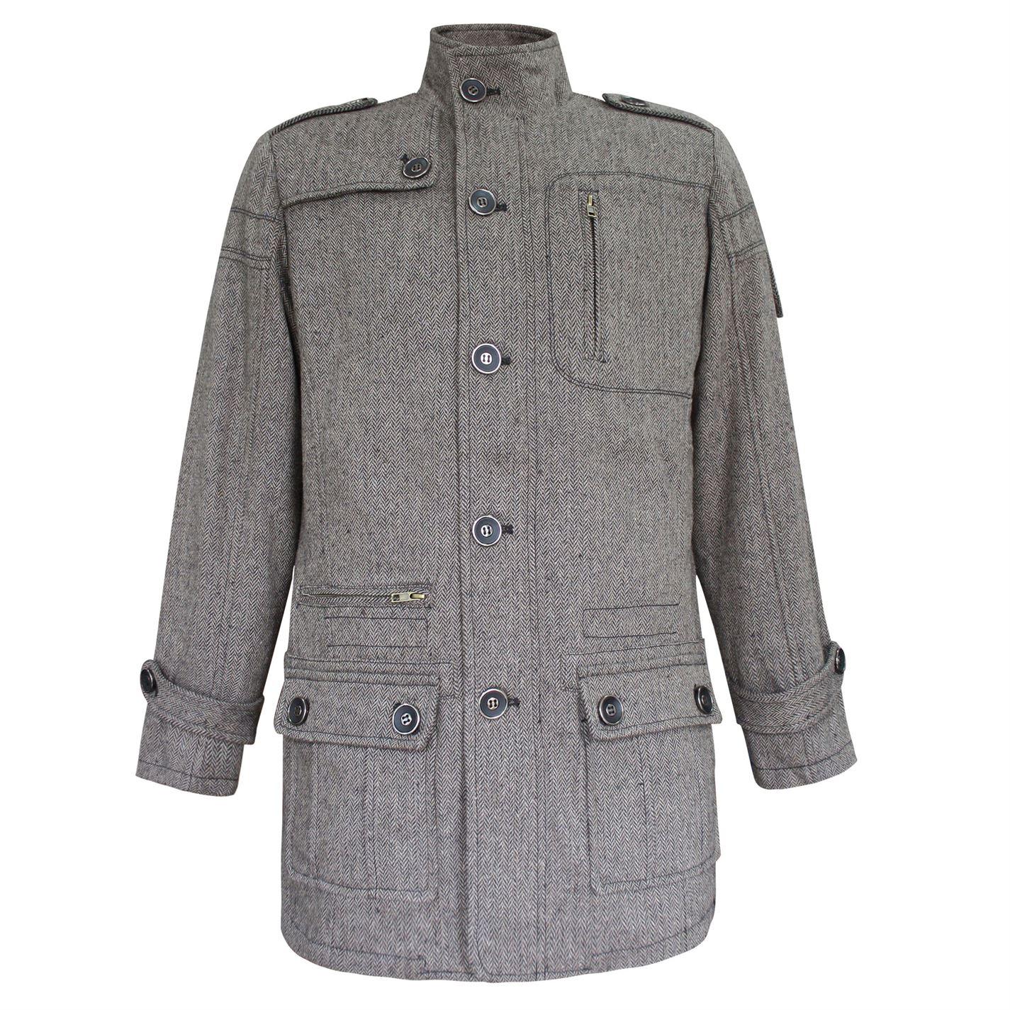 Lee Cooper Wool Coat Mens