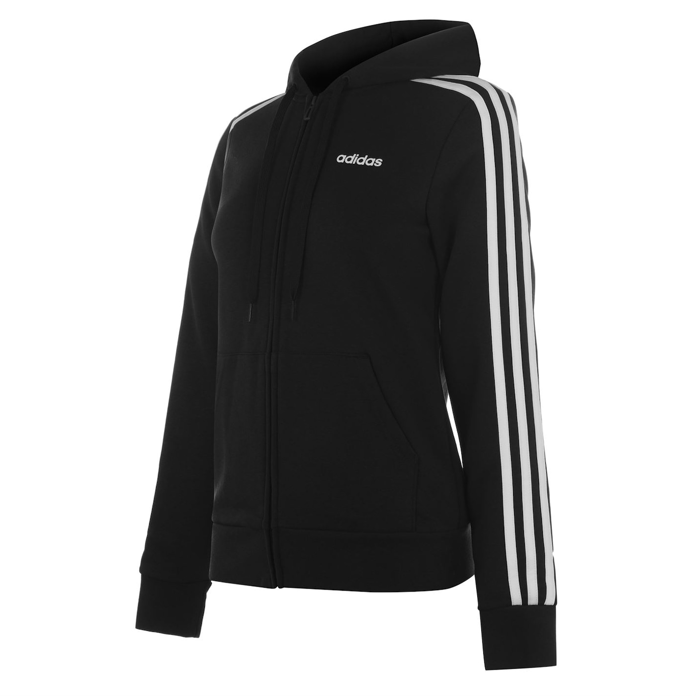 Adidas Essential 3 Stripe Zip Hoody Ladies
