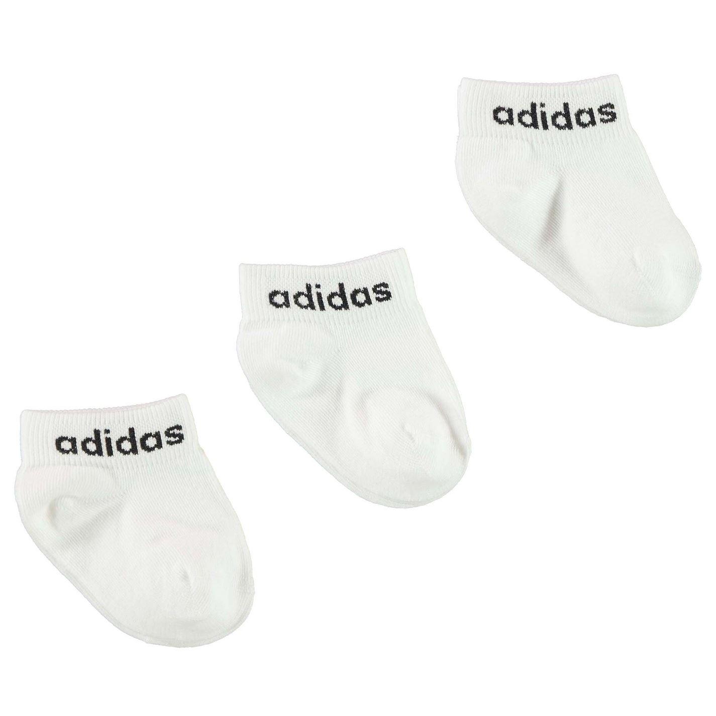 Adidas 3 Pack Ankle Socks Infants