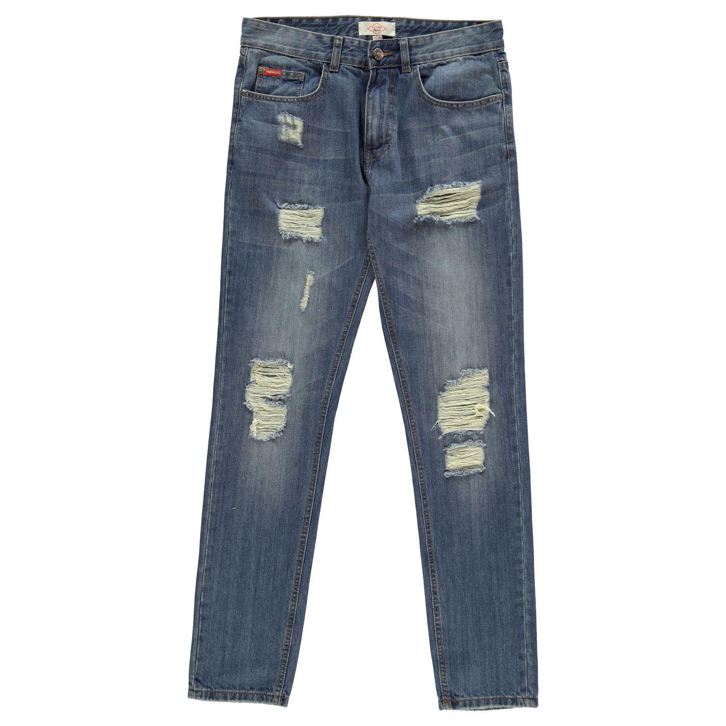 Lee Cooper Vintage Ripped Jeans Mens