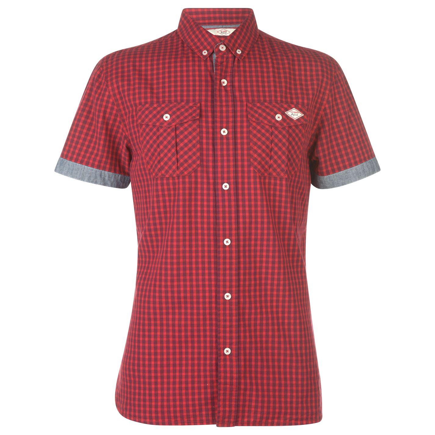 Lee Cooper pánská košile s krátkými rukávy