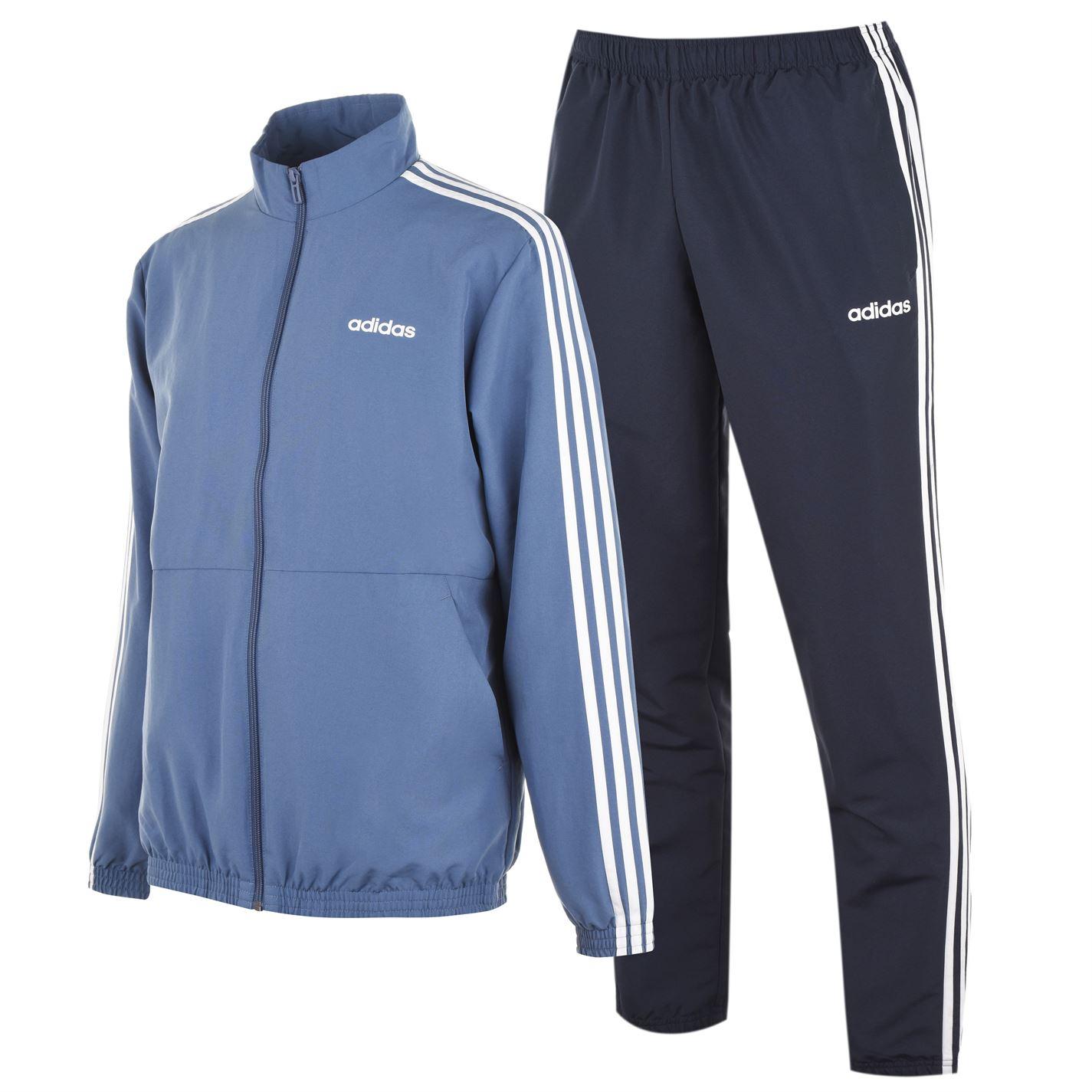 Adidas 3 Stripe Woven Tarcksuit Mens