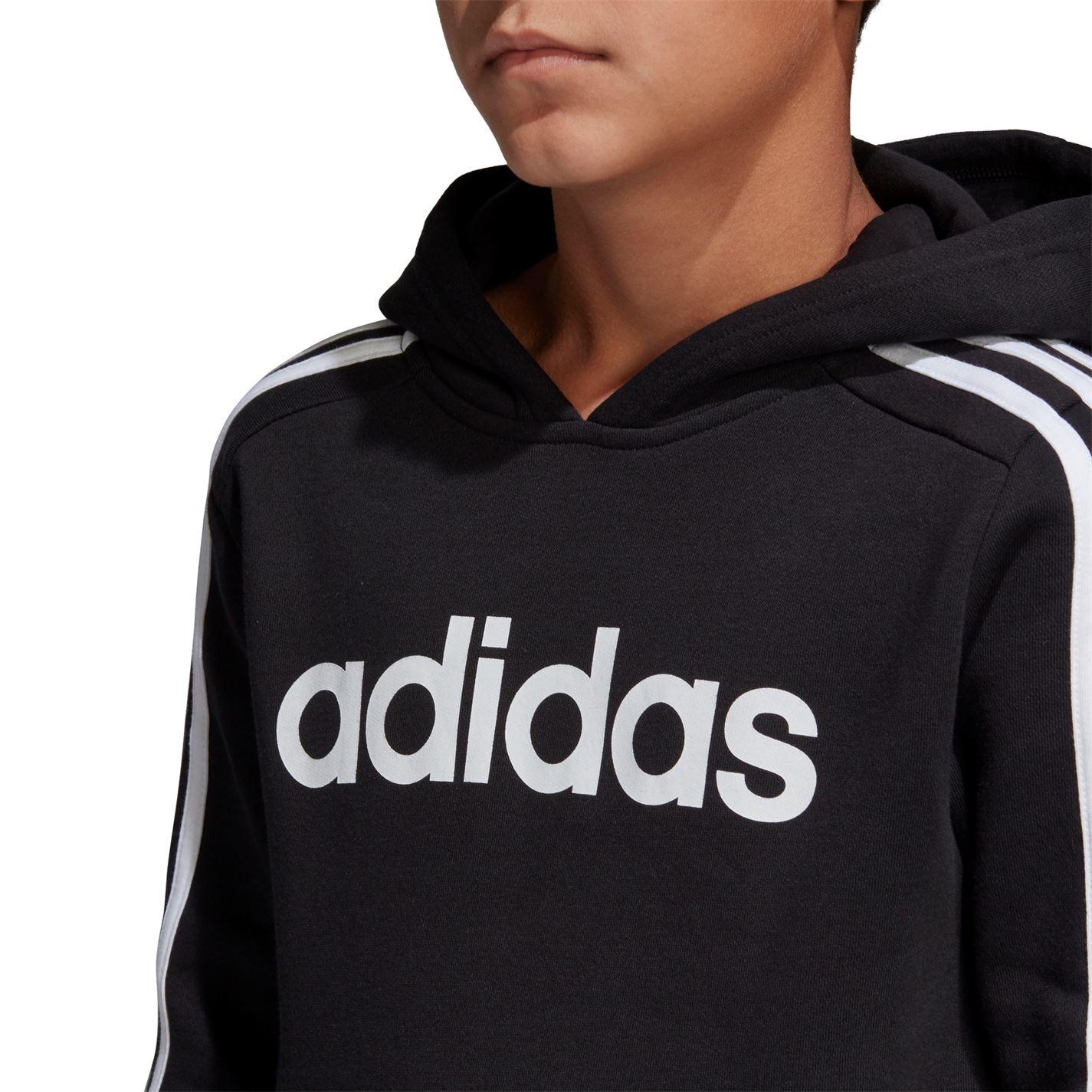 Adidas Boys 3-Stripes Sweatshirt Hoodie