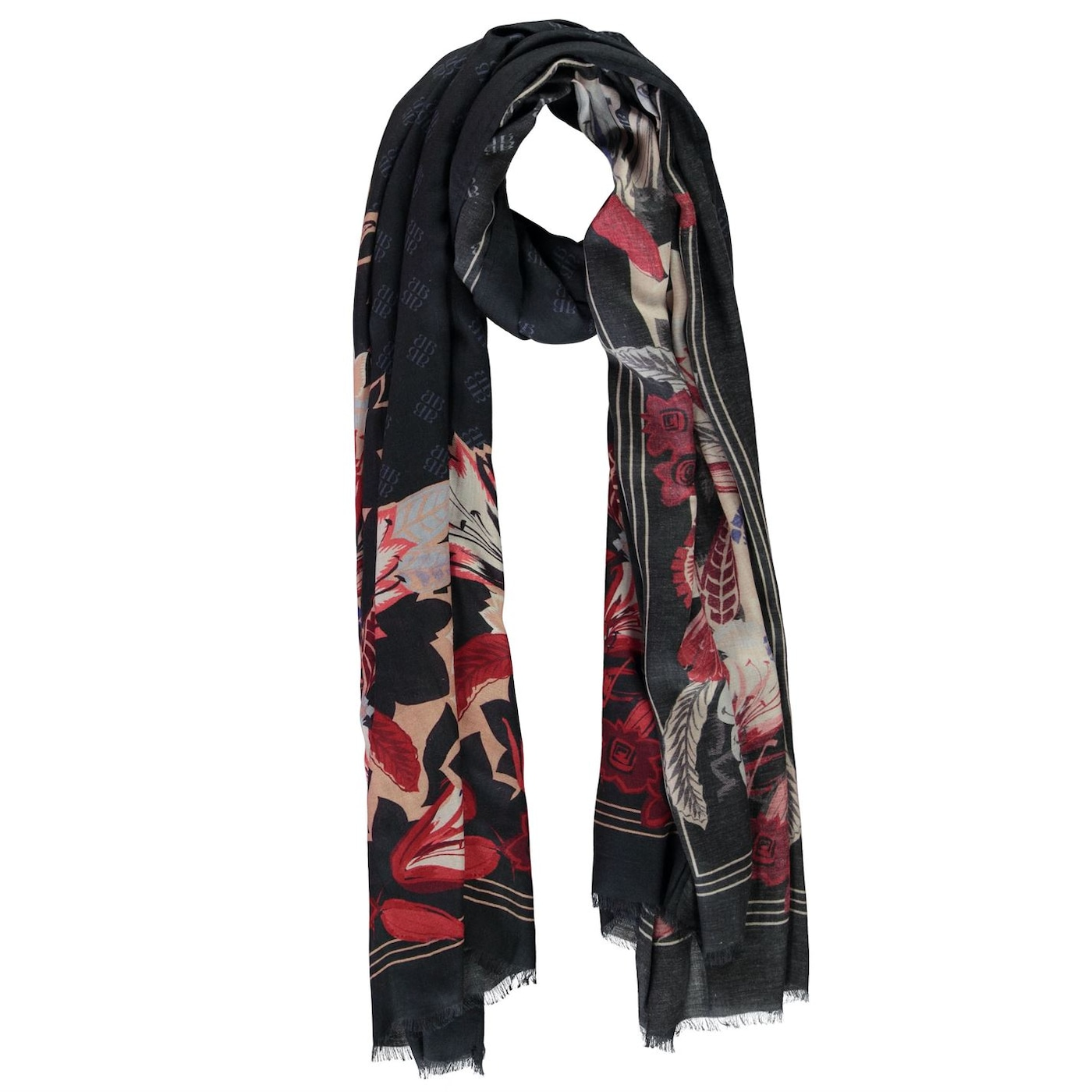 Biba Fan lily border scarf