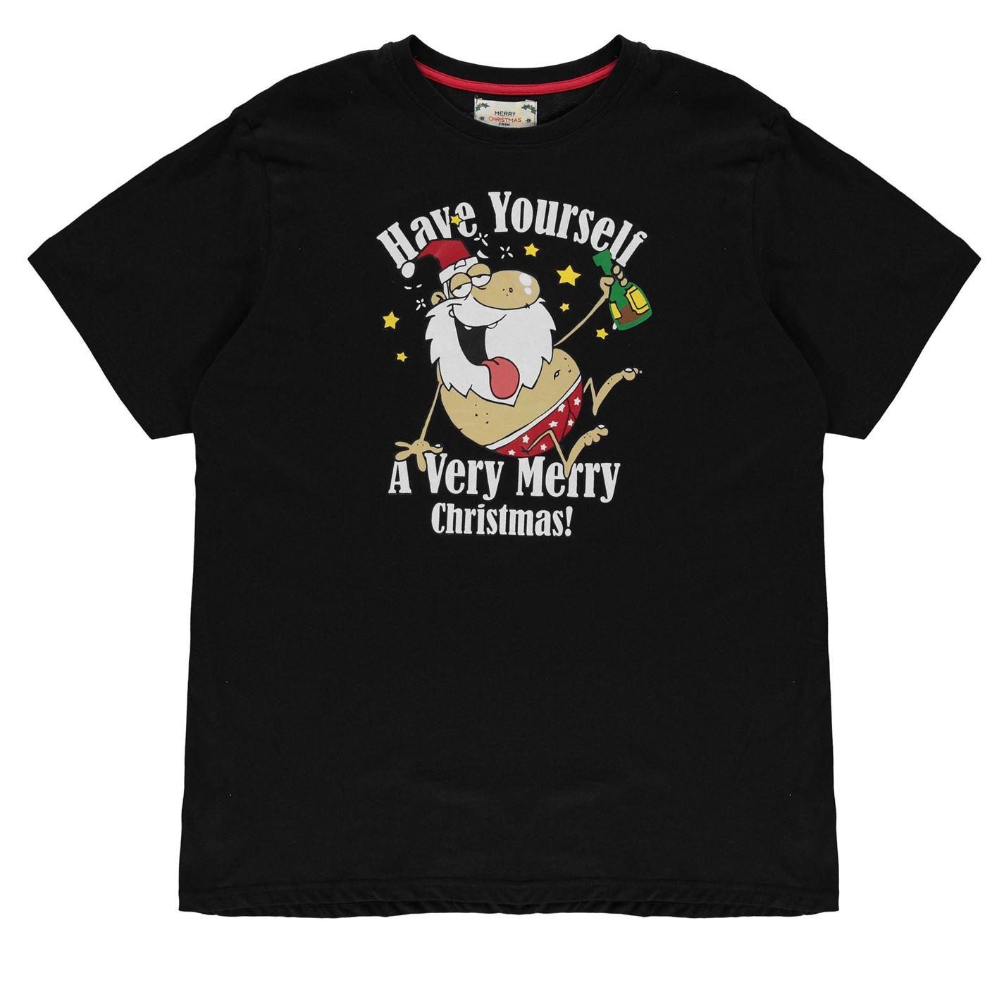 D555 Christmas Very Merry T Shirt Mens