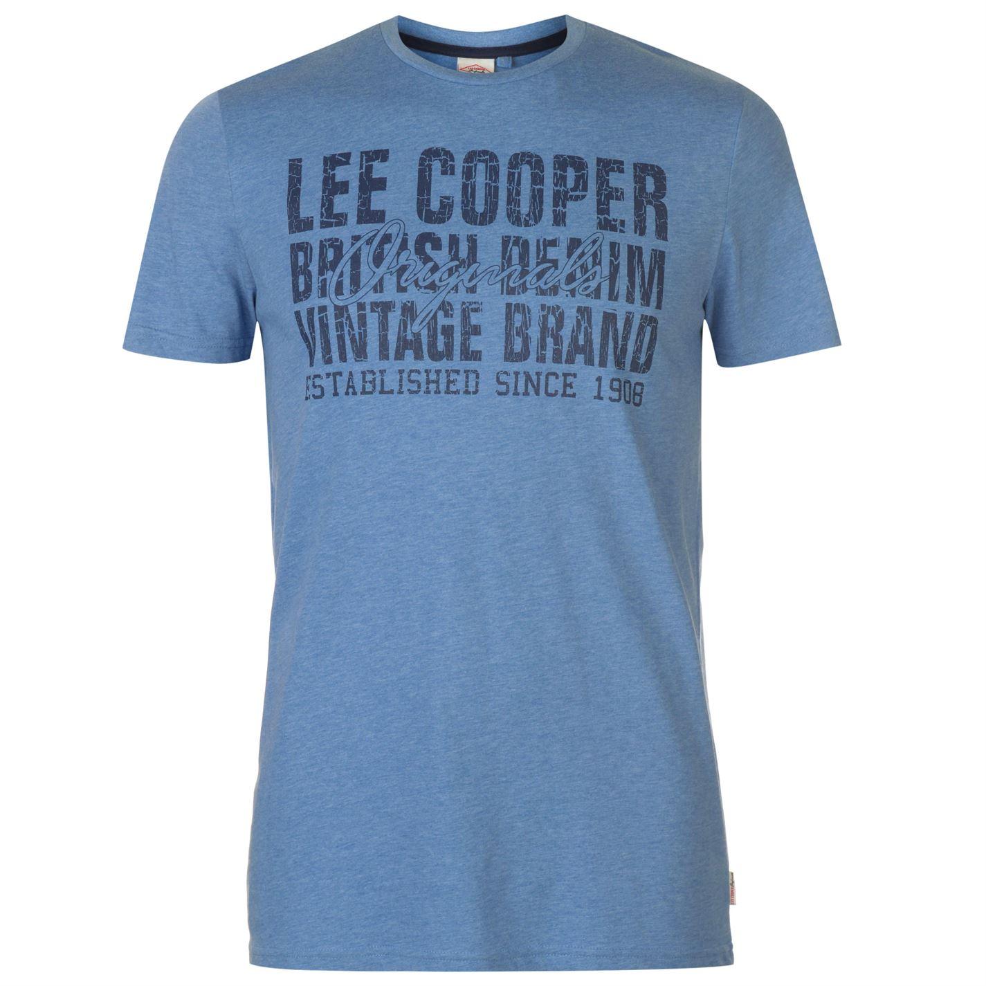 Lee Cooper Denim Co Logo pánske tričko