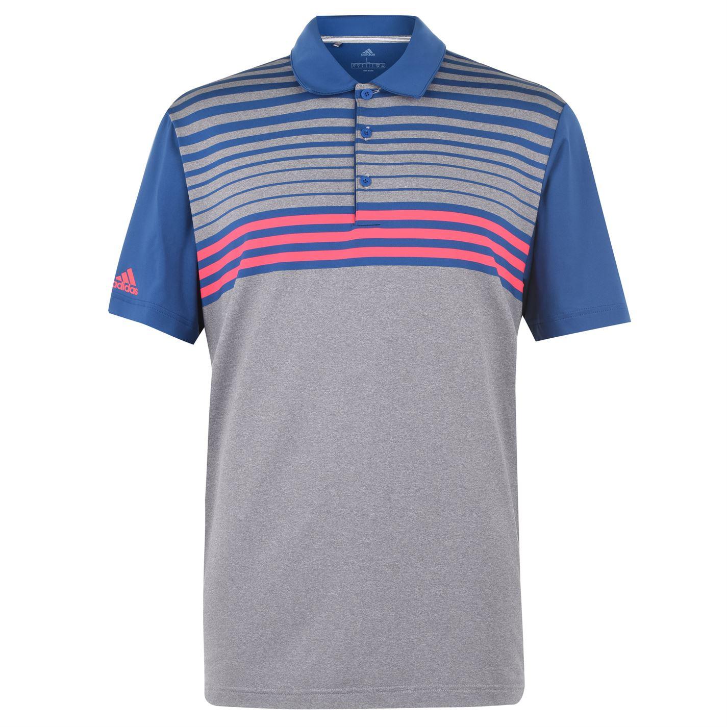 Adidas Ultra Stripe Gradient Polo Shirt Mens