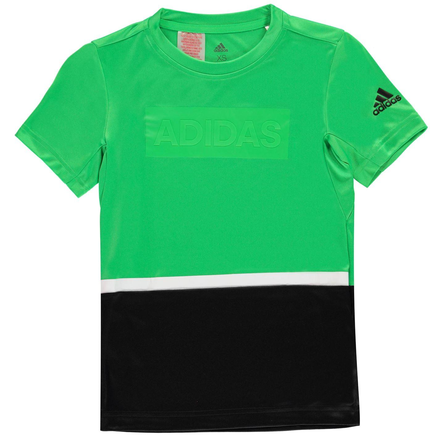 Adidas Training Colour Block T Shirt Junior Boys