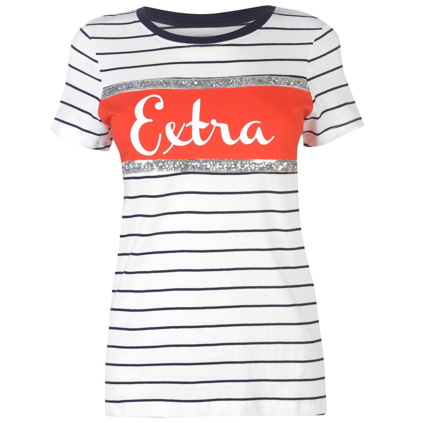 Triko Rock and Rags Sequin Slogan T Shirt dámské