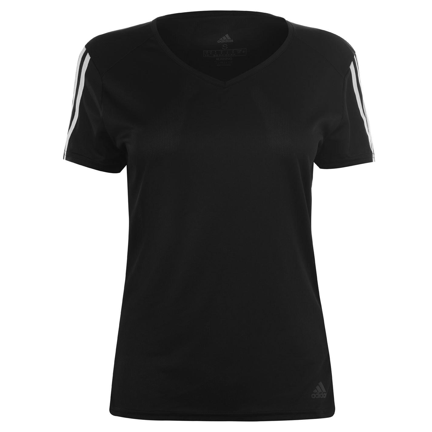 Adidas Womens Run It 3-Stripes Graphic T-Shirt