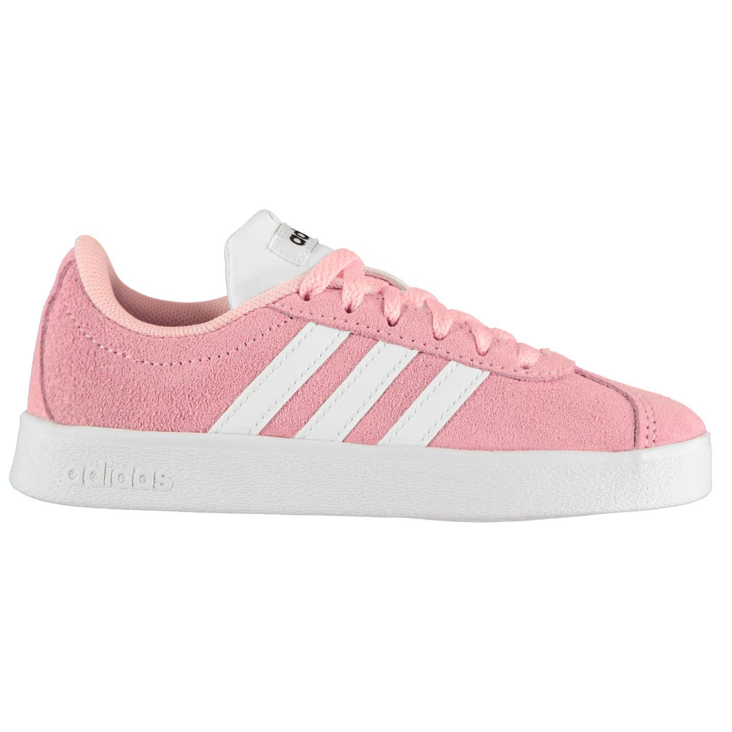 Adidas VL Court Suede Trainers Child Girls