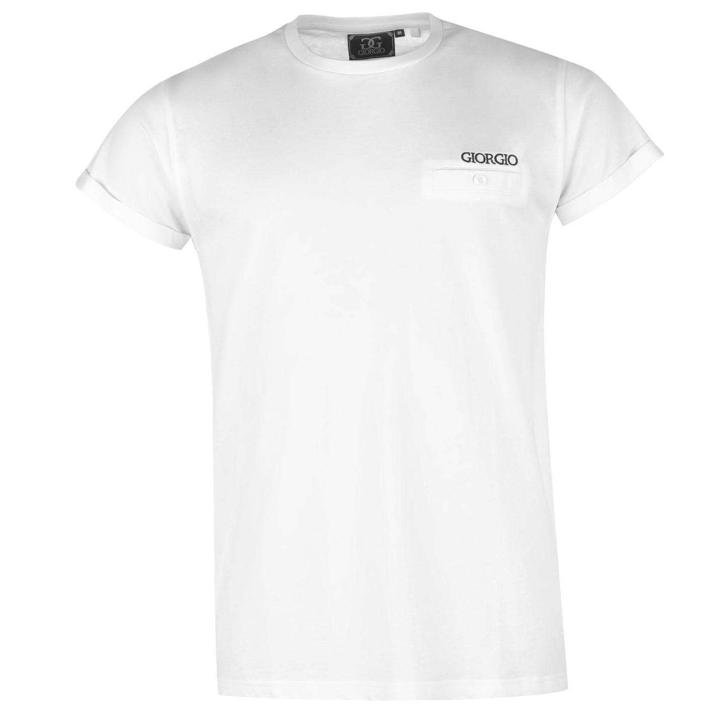 Giorgio Essential Roll up Sleeve T Shirt Mens