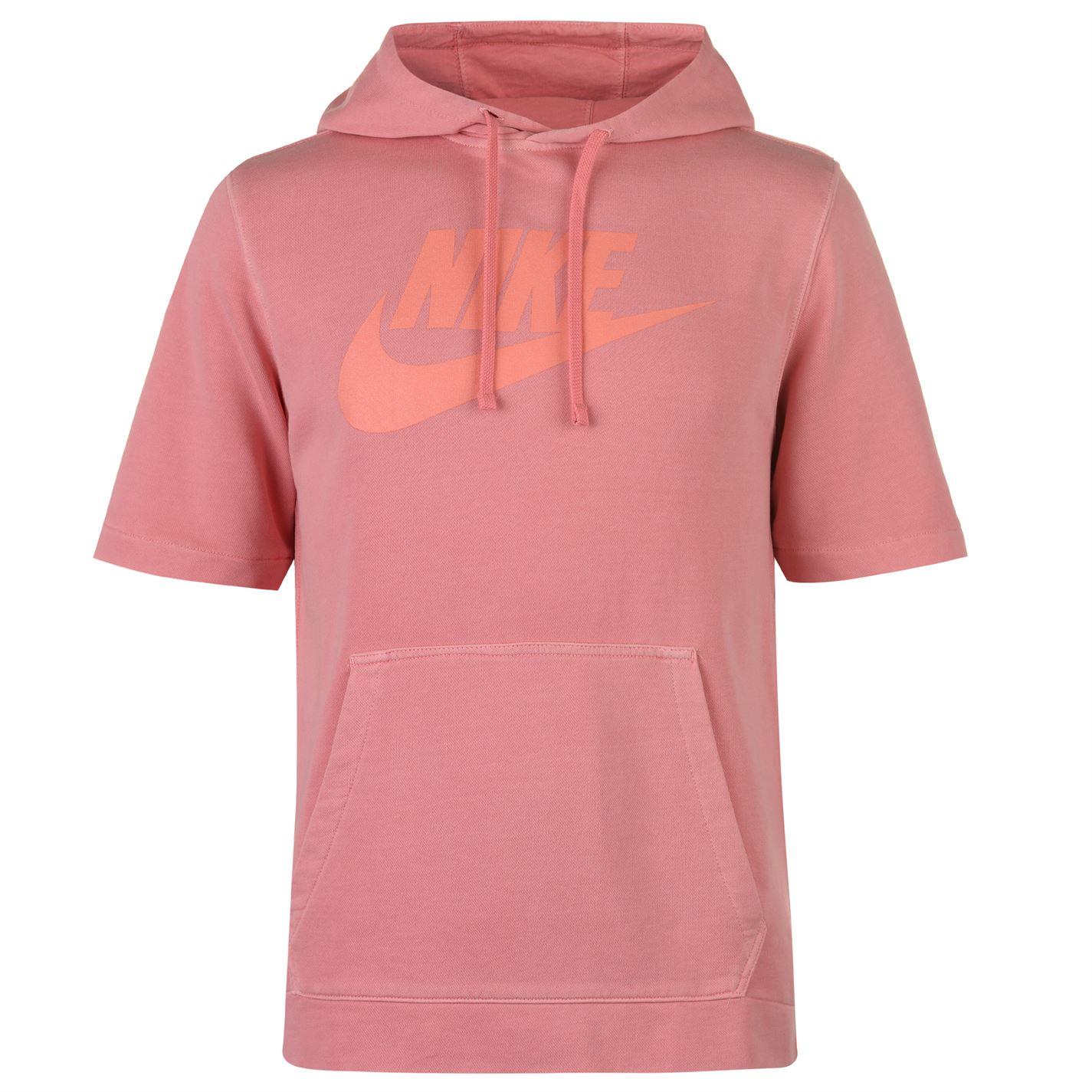 Nike Short Sleeve Wash Hoody Mens