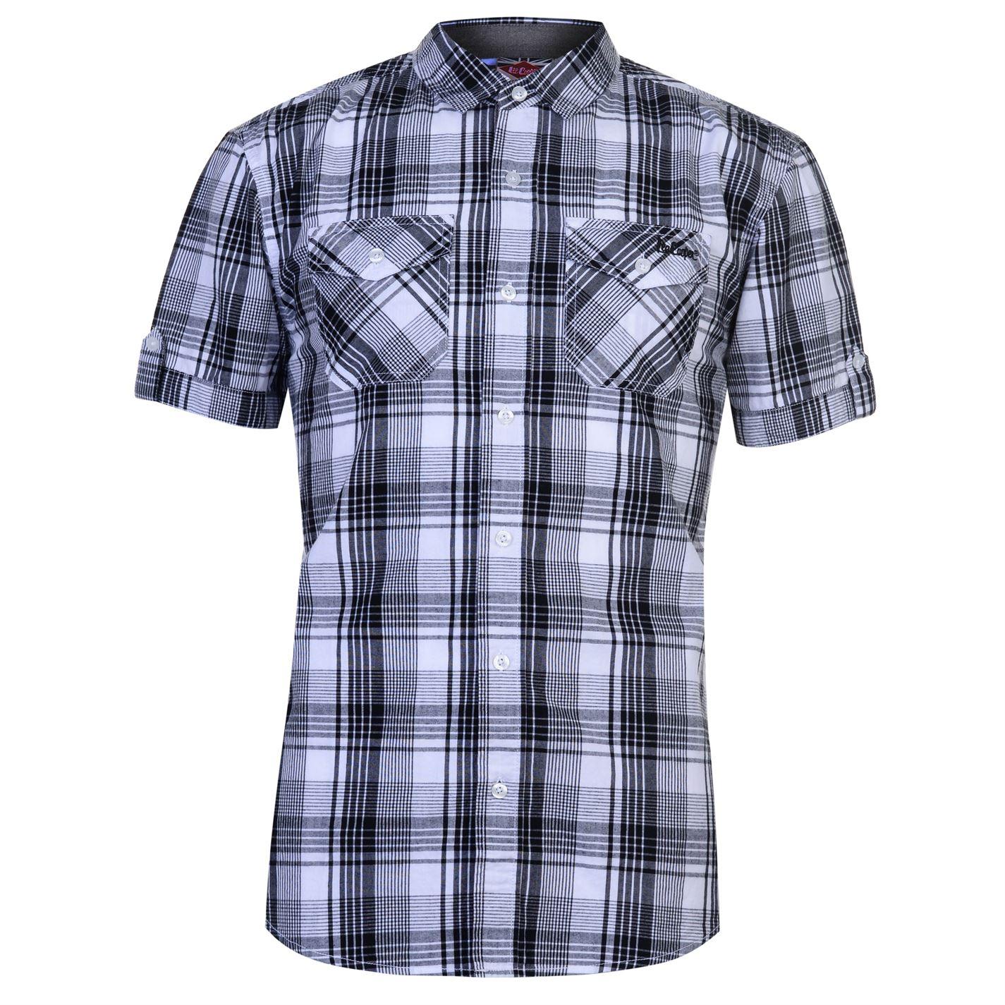 Lee Cooper SS Check Shirt Mens