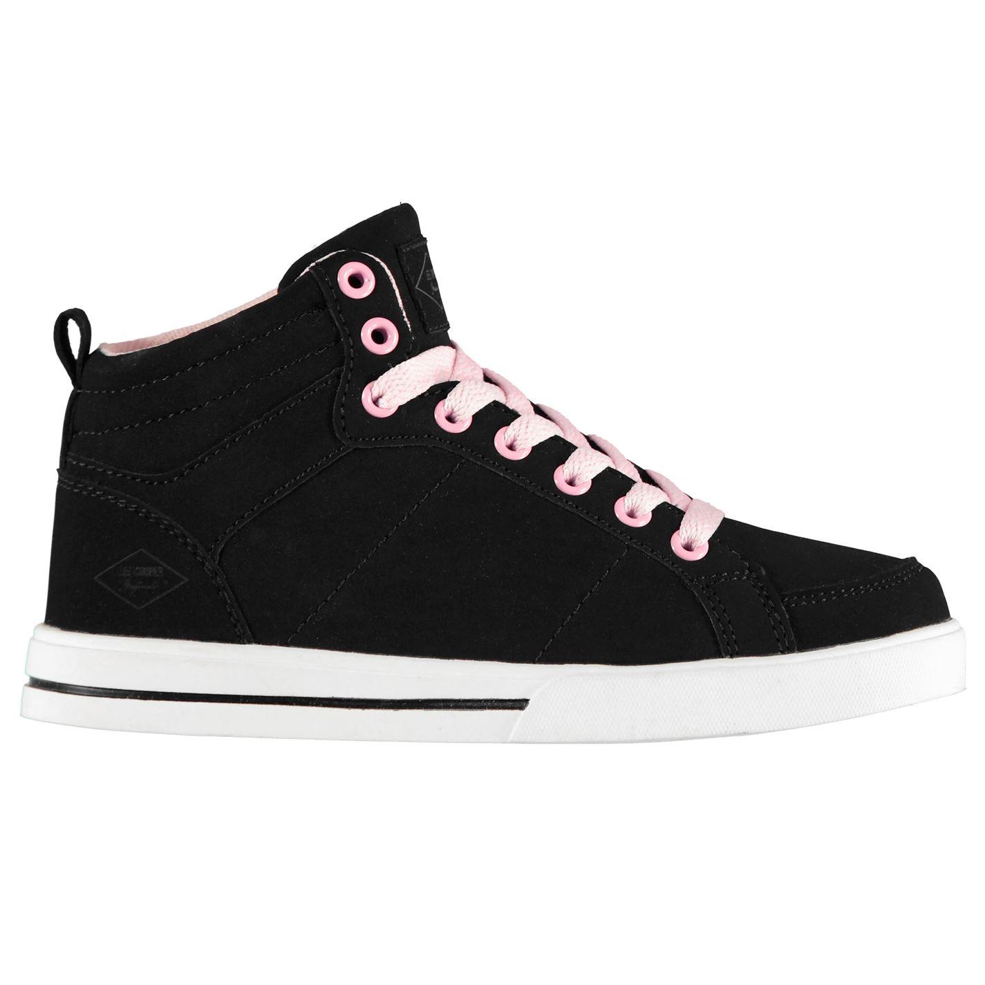 Lee Cooper Mens Canvas Hi Top Shoes Plimsolls Plimsoles Fashion Trainers Lace Up