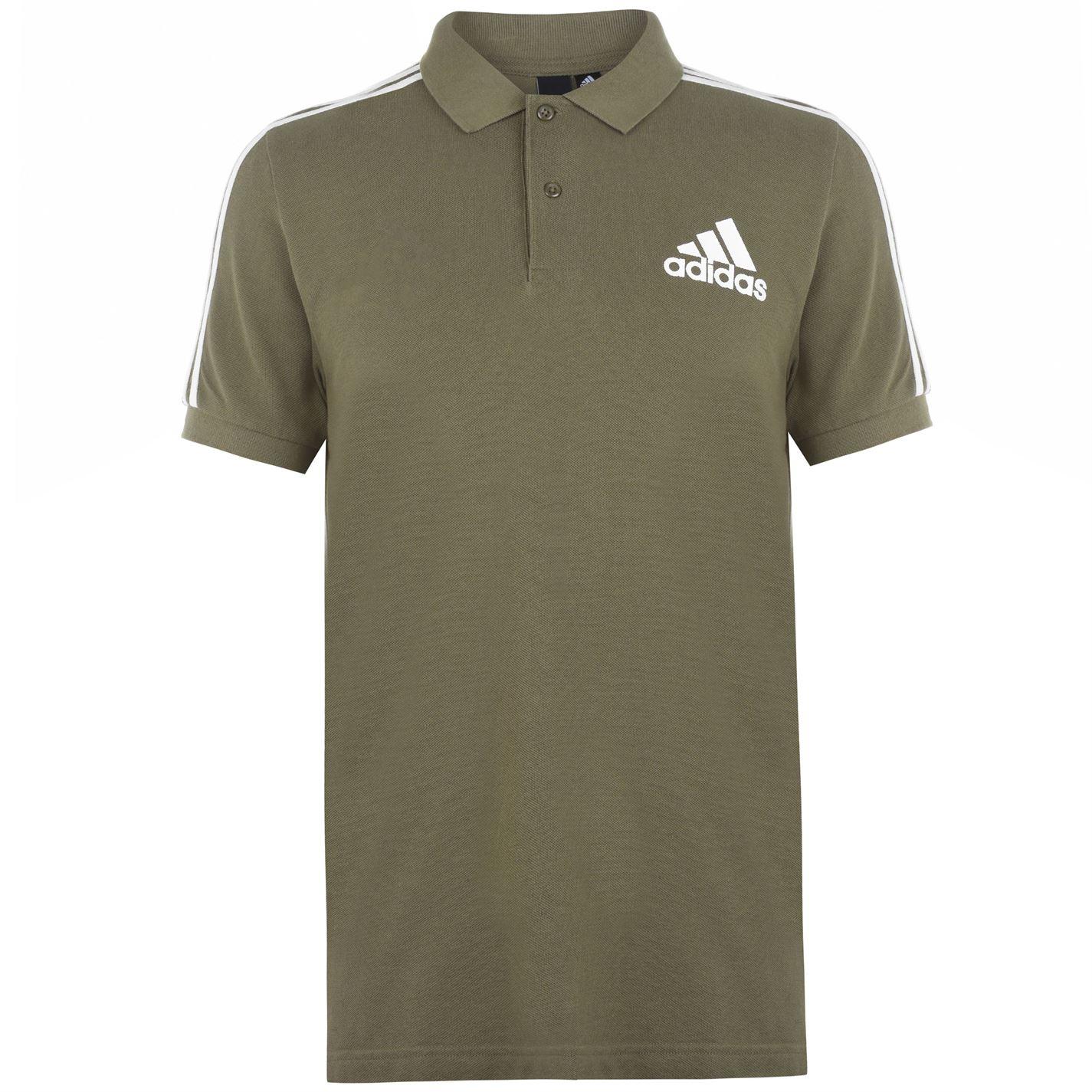 Adidas 3 Stripes Logo Polo Shirt Mens
