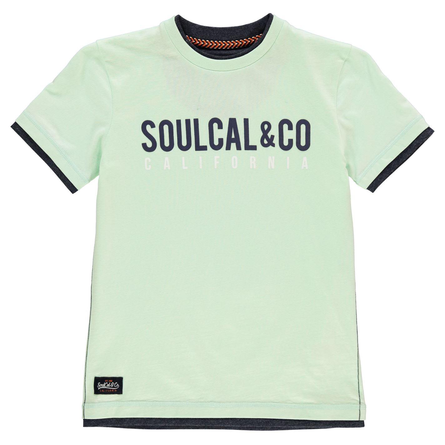 SoulCal Long Line T Shirt Junior Boys