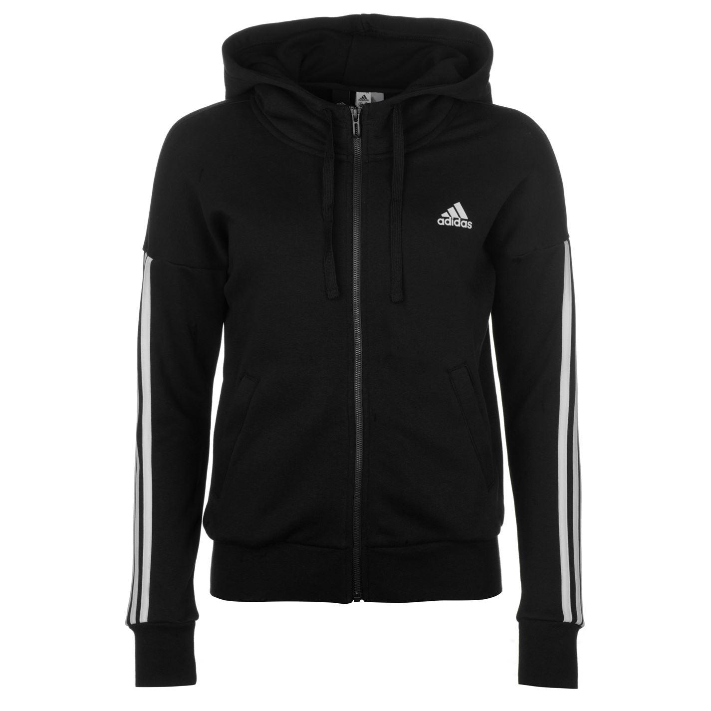Adidas Essentials 3 Stripe Womens Hoodie
