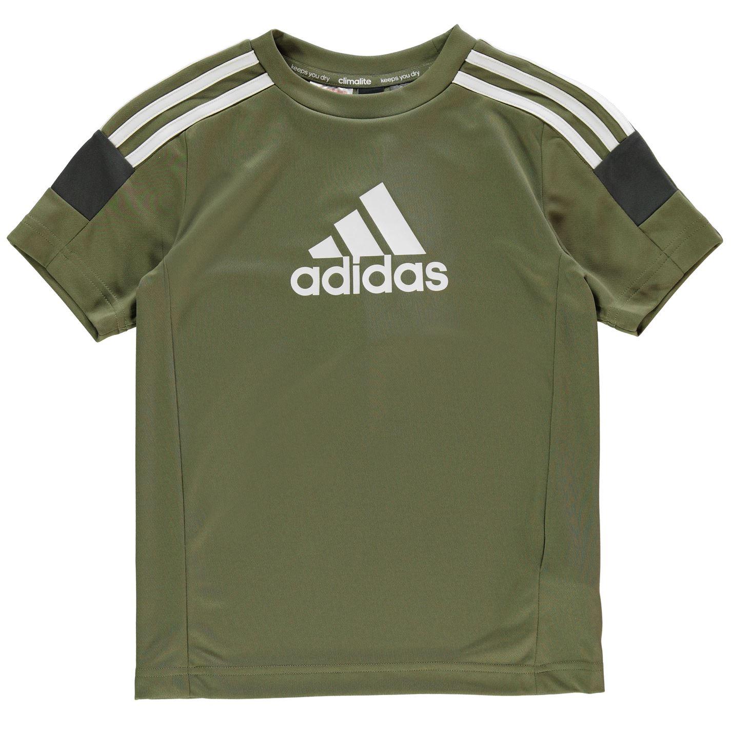 Adidas Boy's Tri-Coloured T-Shirt