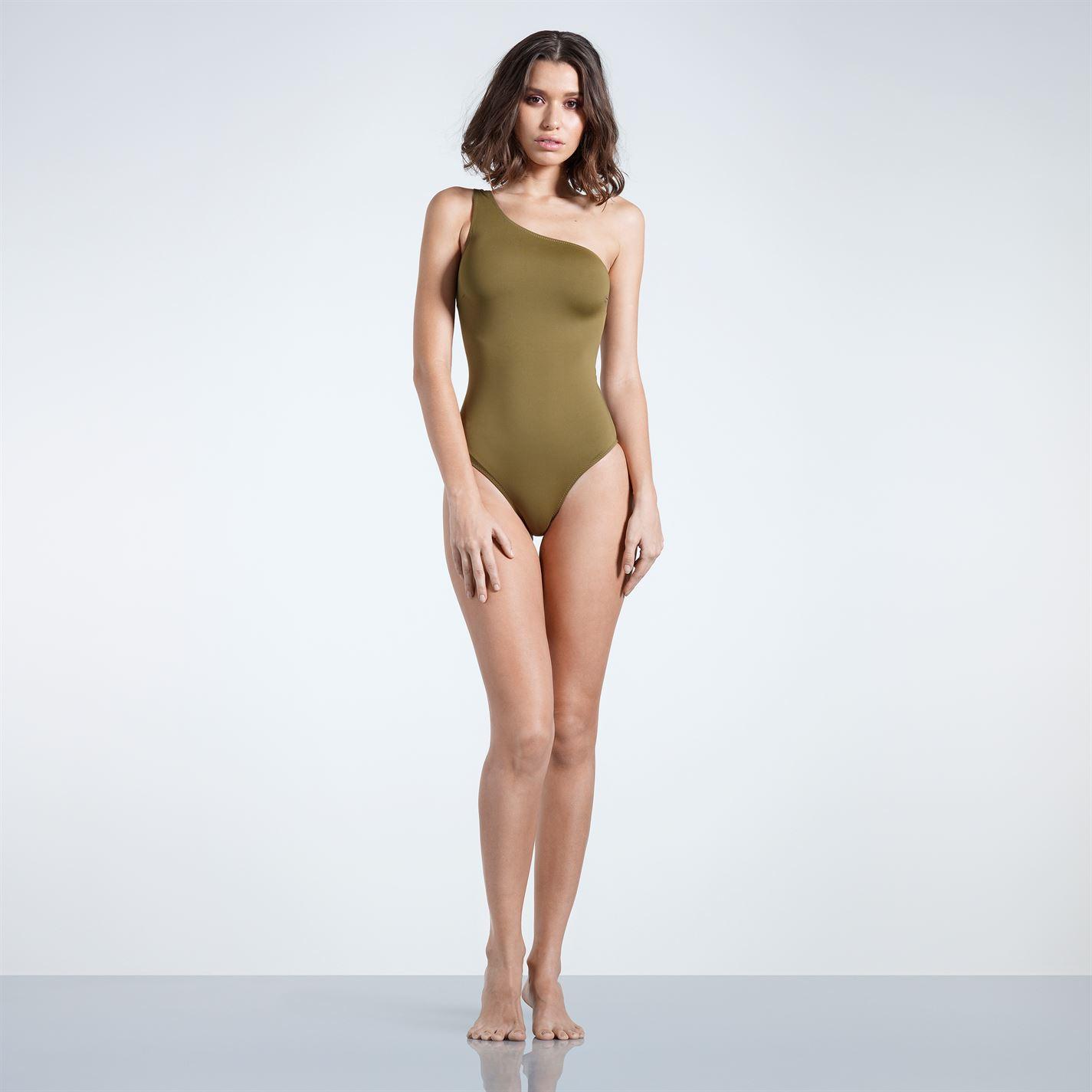 Trendyol dámske jednodielne plavky na jedno ramienko