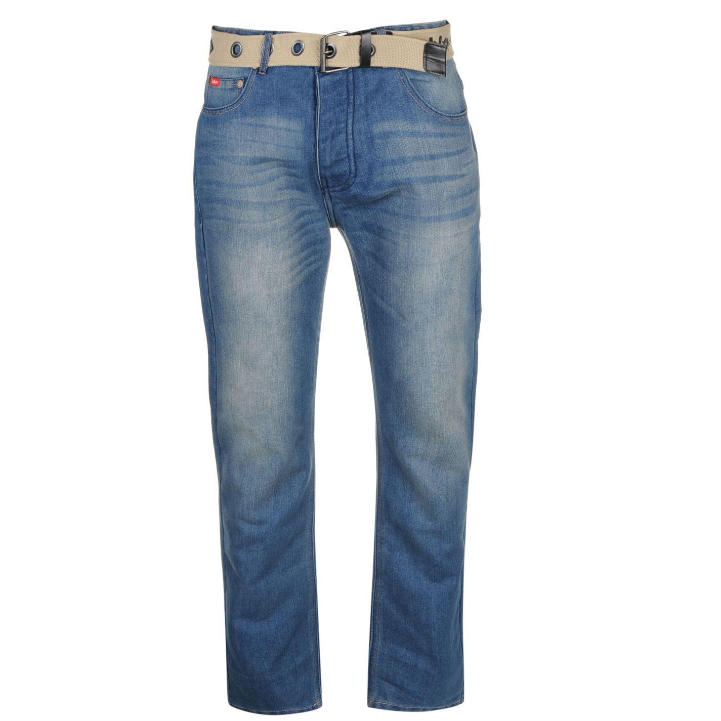 Lee Cooper Cooper Belted Jeans Mens