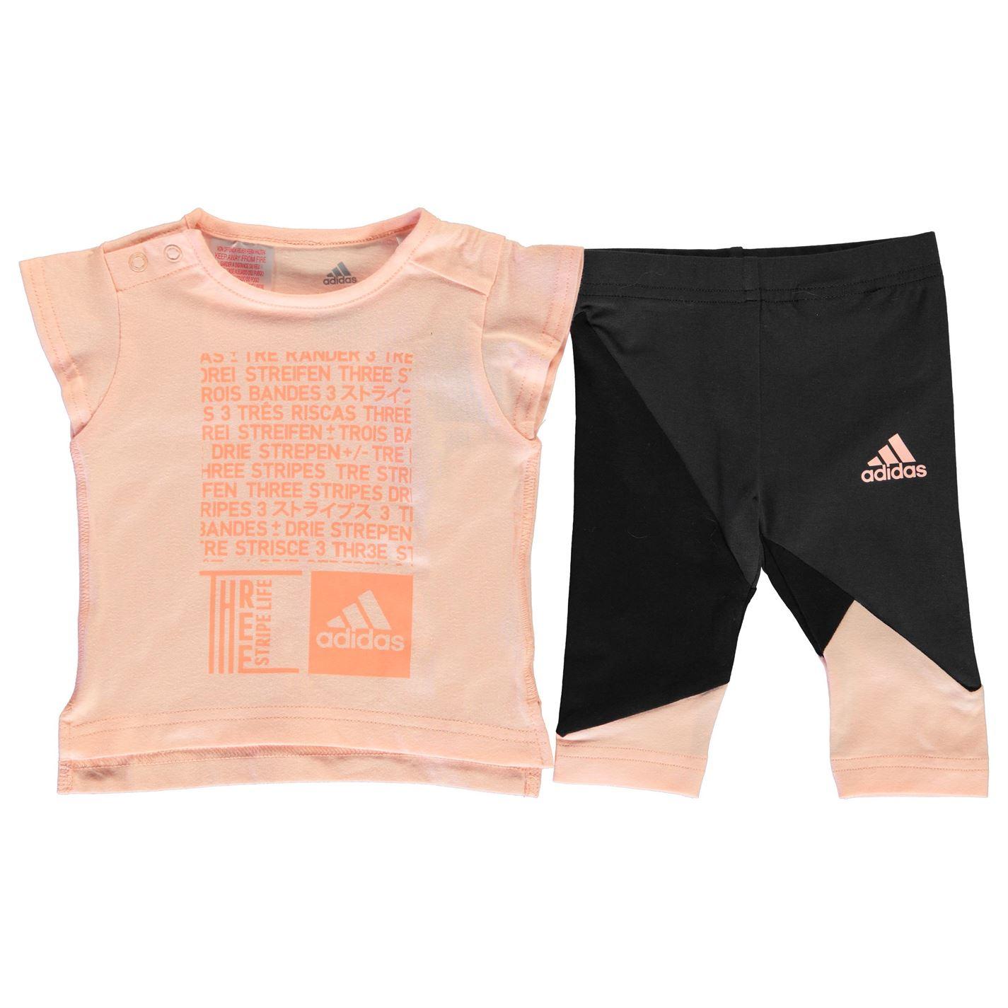 Adidas Print Tee and Tights Set Babies