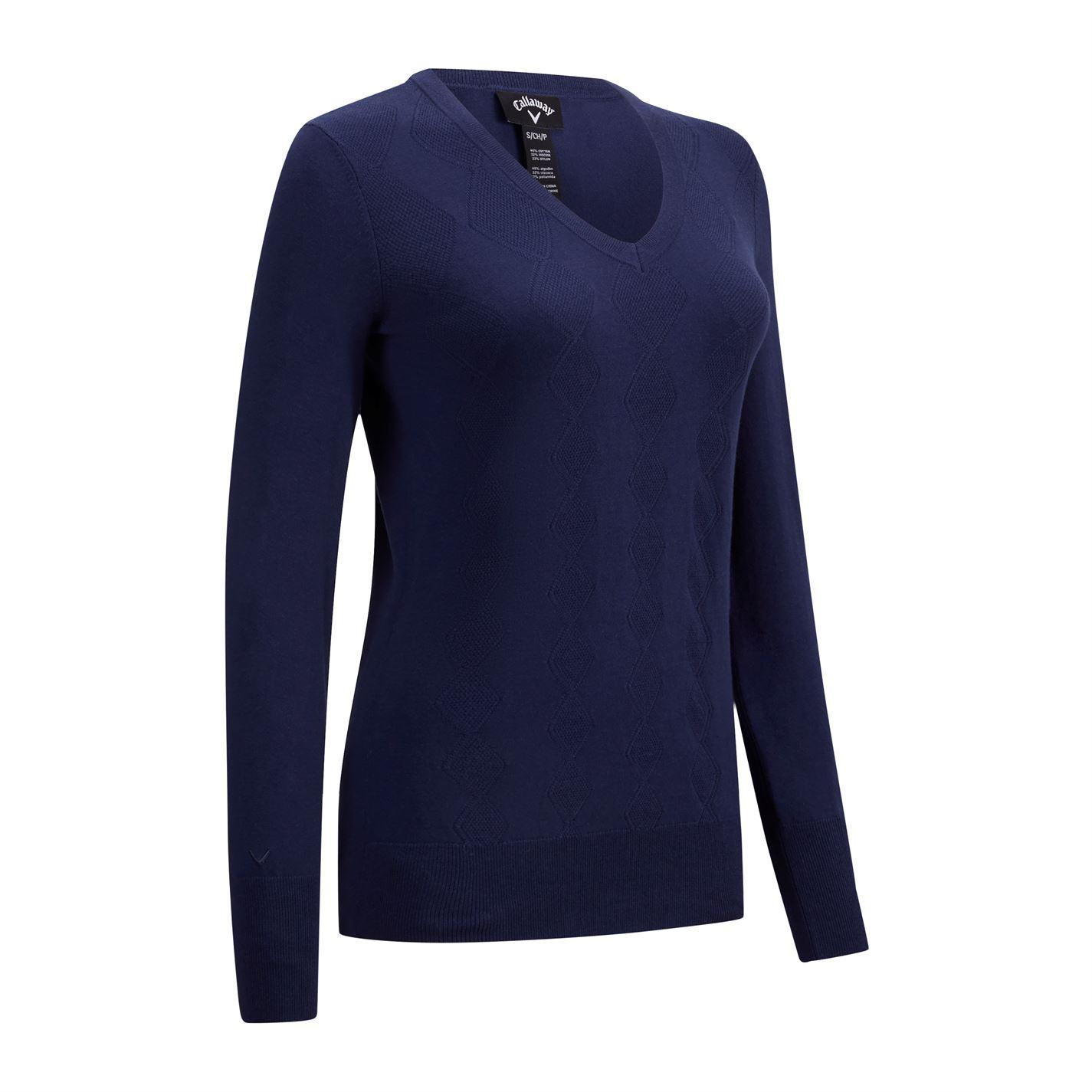 Callaway Argyle Sweater Ladies
