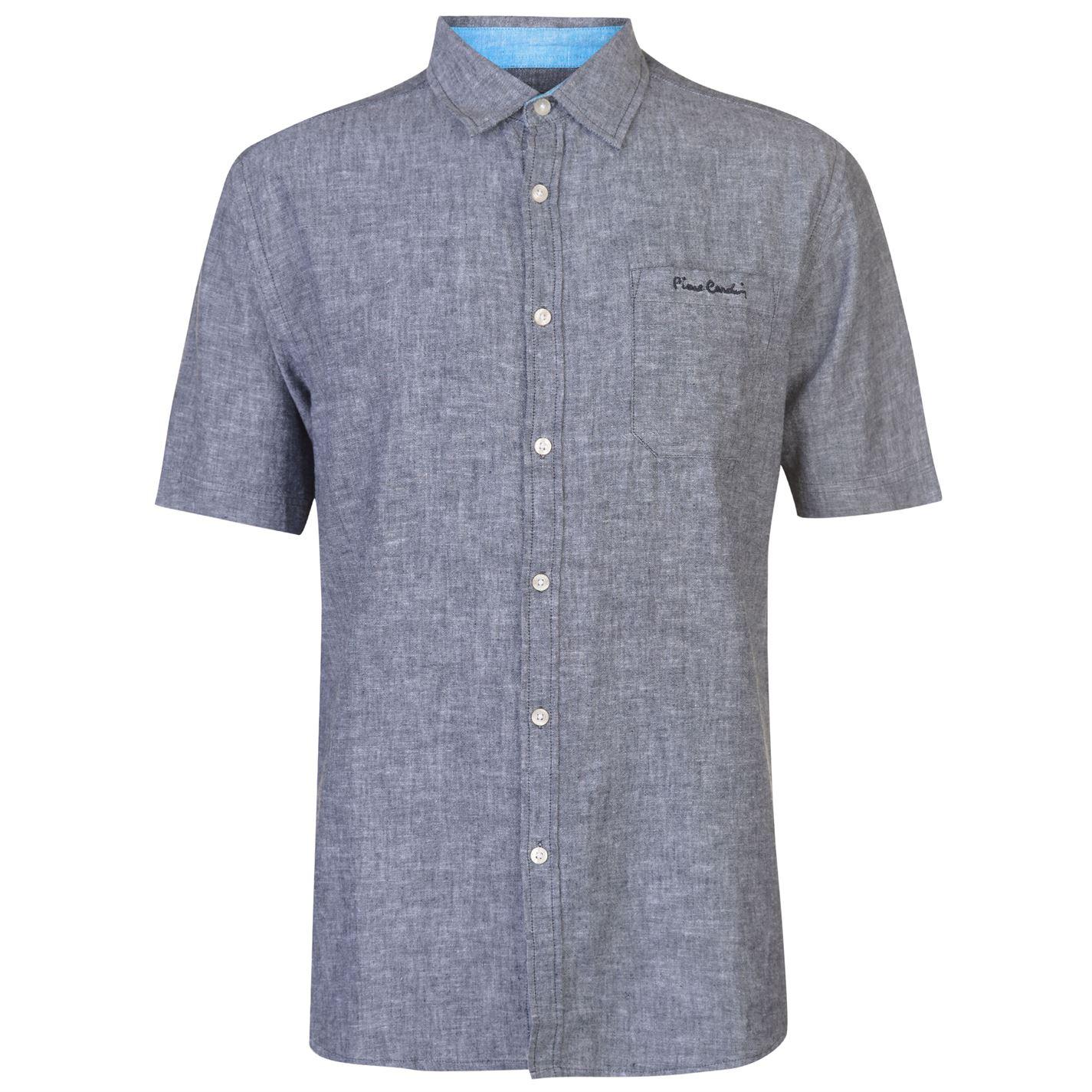 Pierre Cardin Short Sleeve Linen pánska košeľa