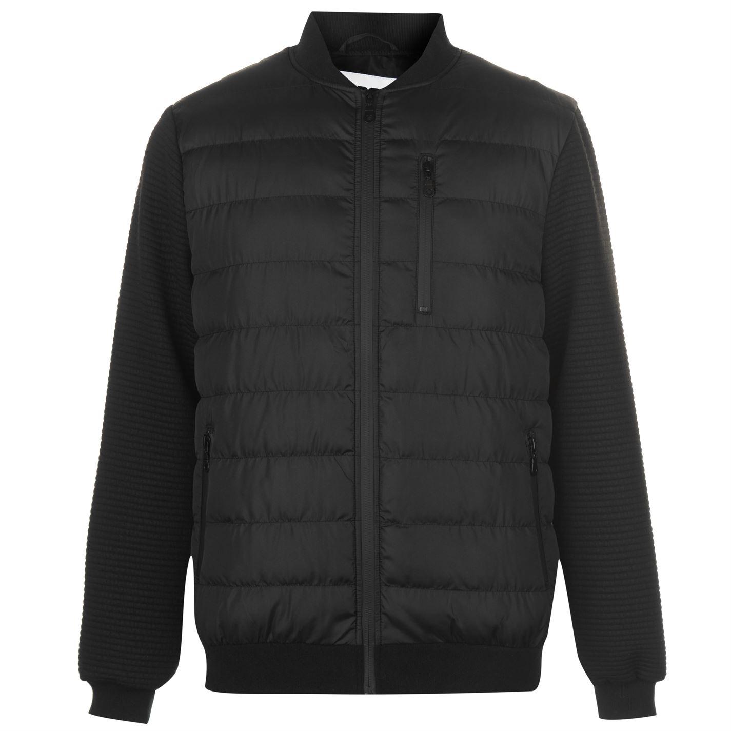 Fabric Ripple Bomber Jacket Mens