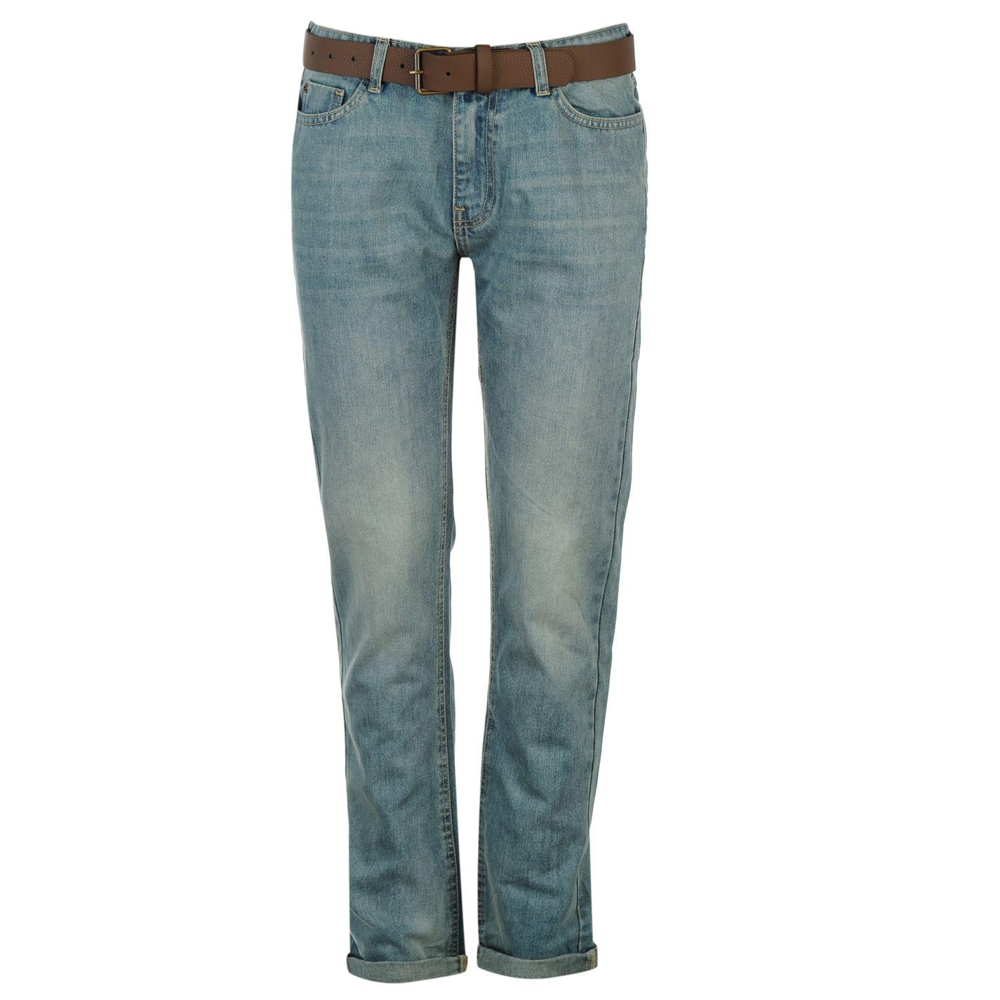 SoulCal Belted Boyfriend Womens Jeans