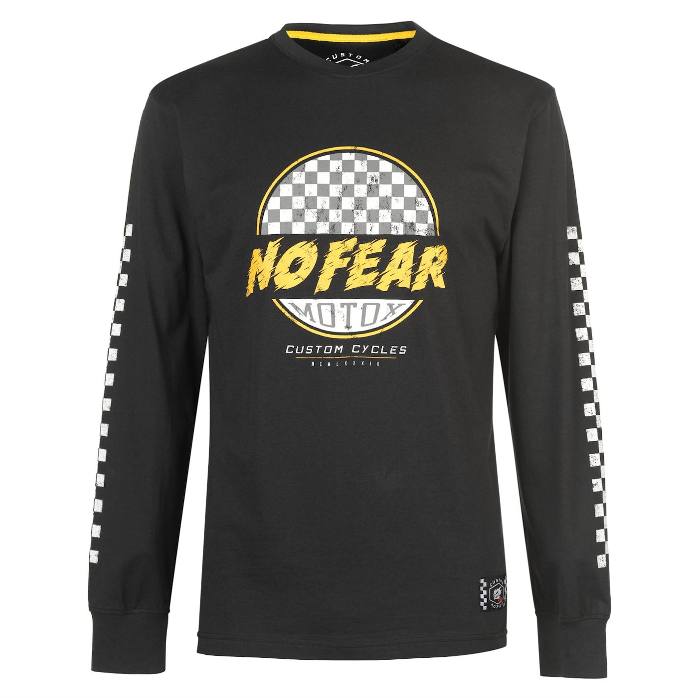 Triko No Fear Custom Motox Long Sleeve T Shirt pánské