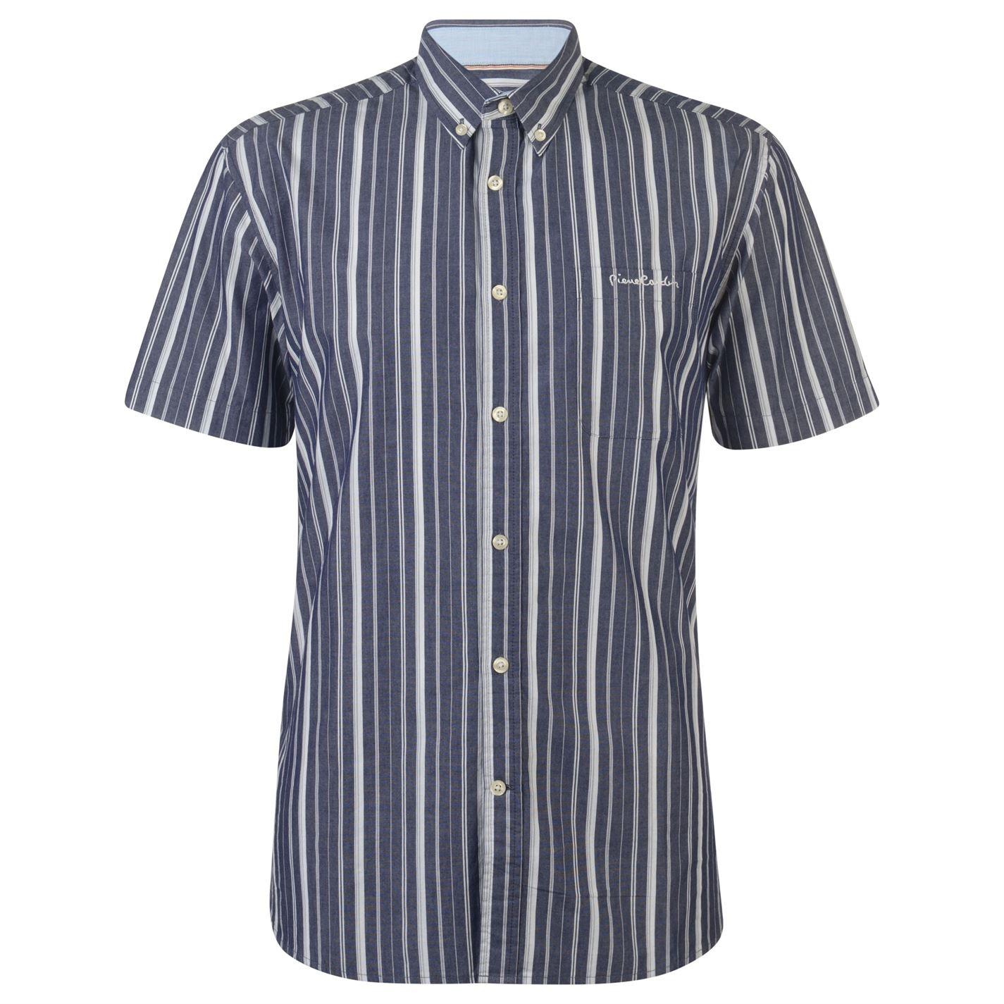 Pierre Cardin Stripe Short Sleeve Shirt Mens