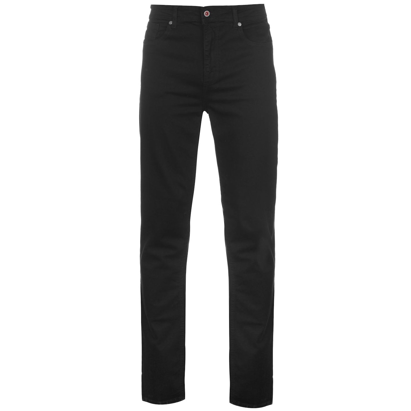 D555 Mens Big Size Tapered Fit Stretch Jeans In Black Claude