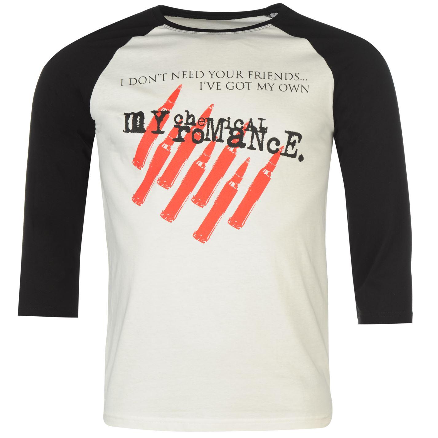 Official My Chemical Romance Raglan T Shirt Mens