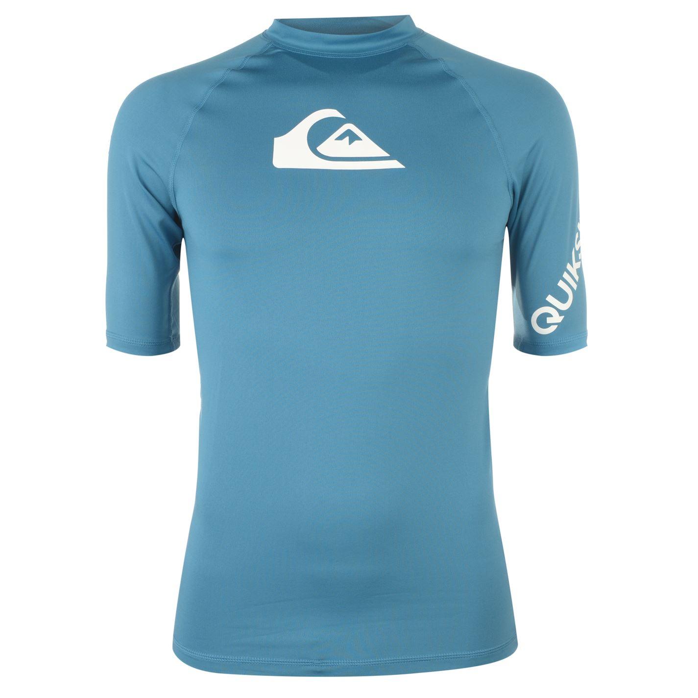 Quiksilver Mens Short Sleeved Logo Rash Vest