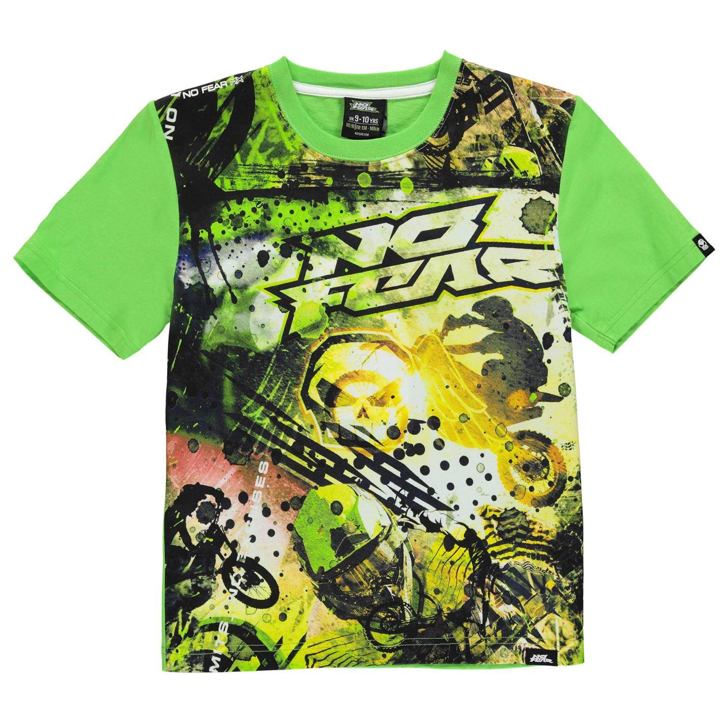 No Fear Moto Graphic T Shirt Junior