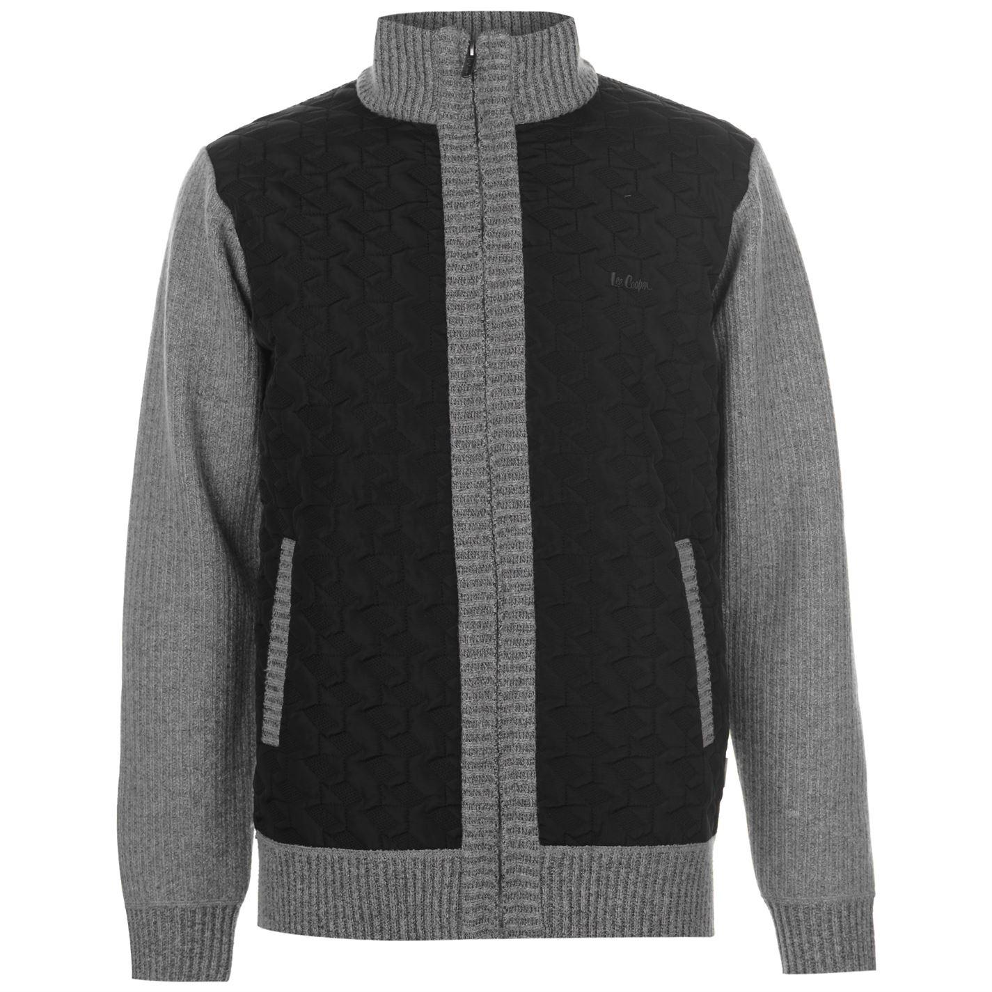 Lee Cooper Panel Zip Knitted Jacket pánske