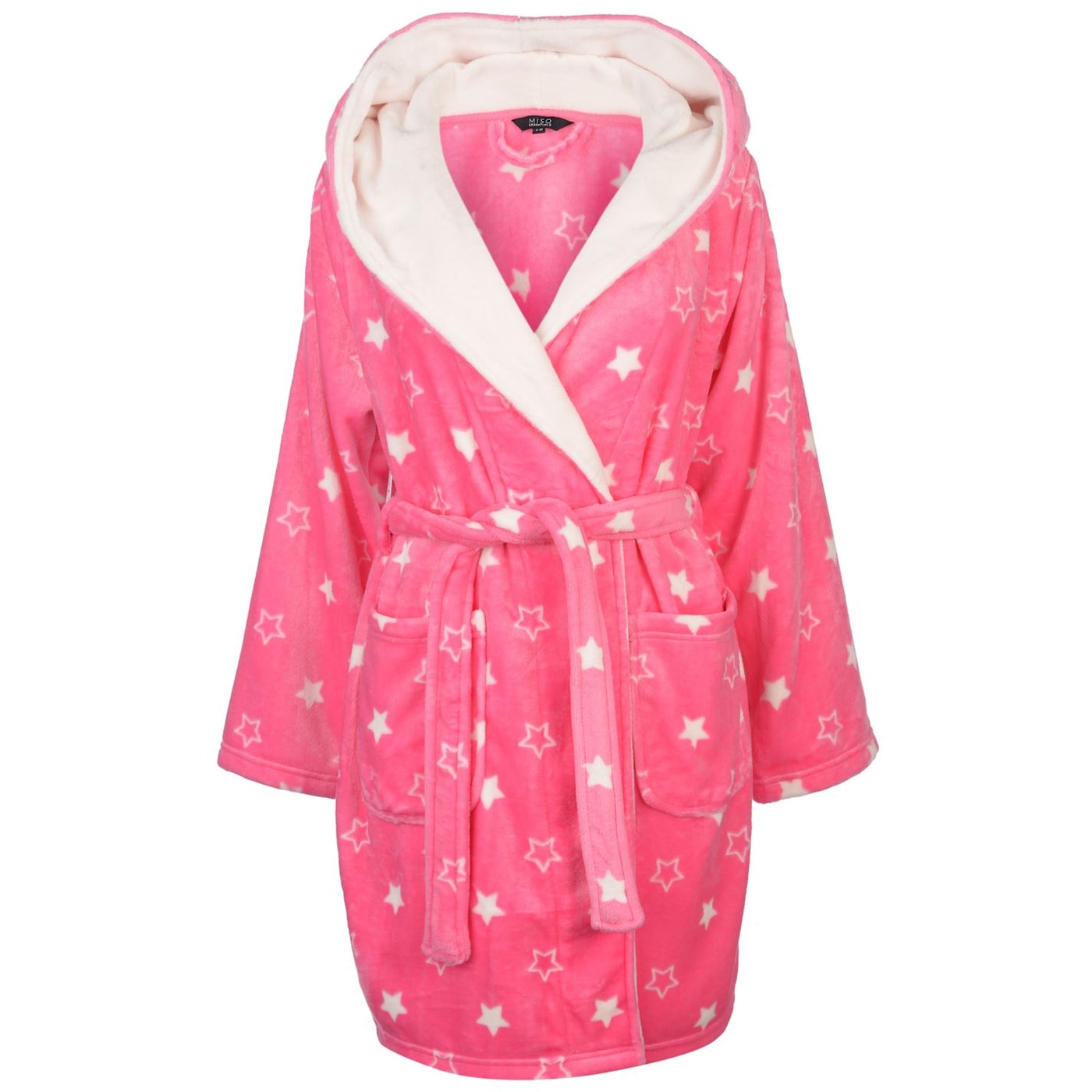Miso Printed Fleece Robe Ladies