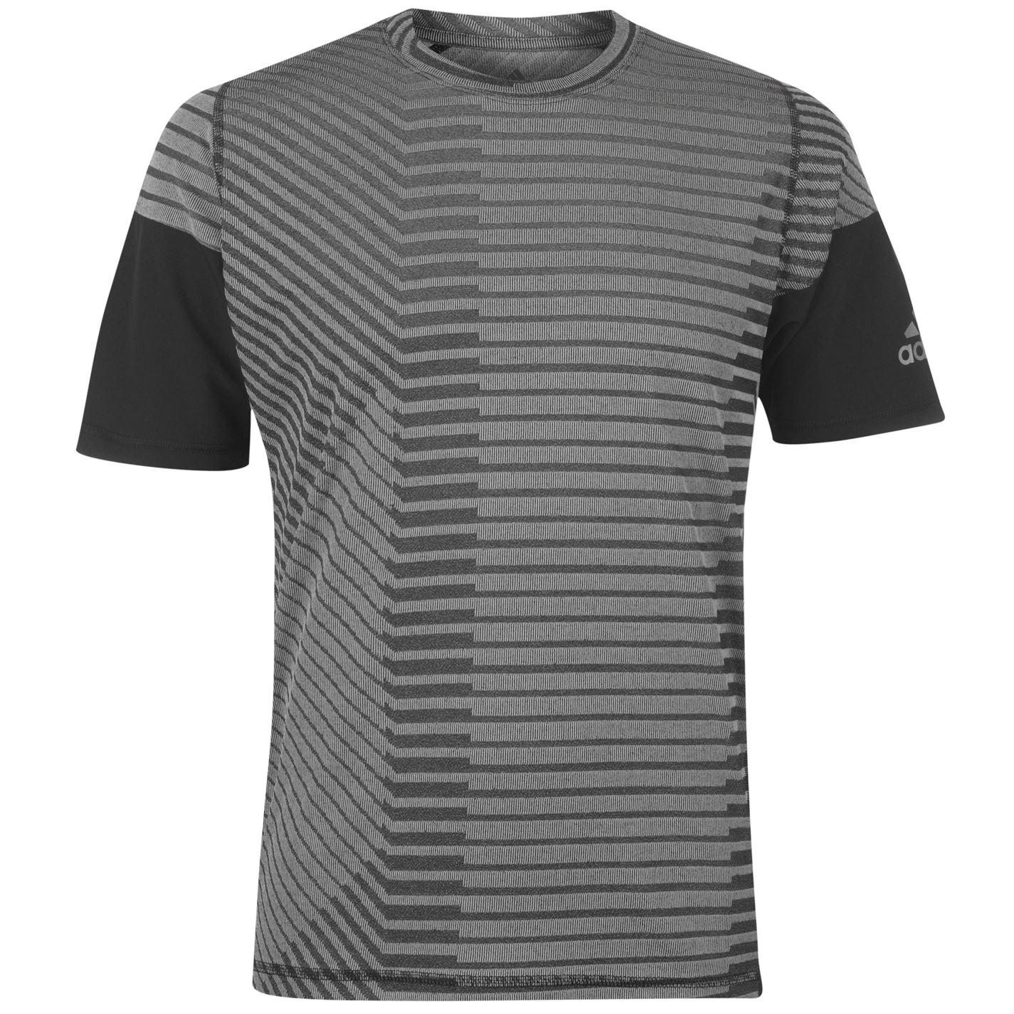 Adidas Stripe Print T Shirt Mens