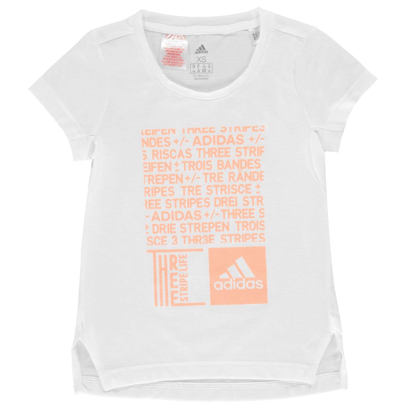 Adidas TR Graphic T Shirt Junior Girls