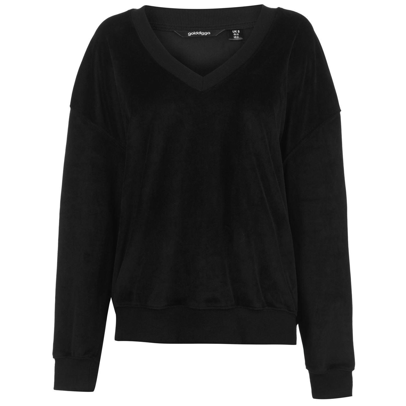 Golddigga Velour Sweater Ladies
