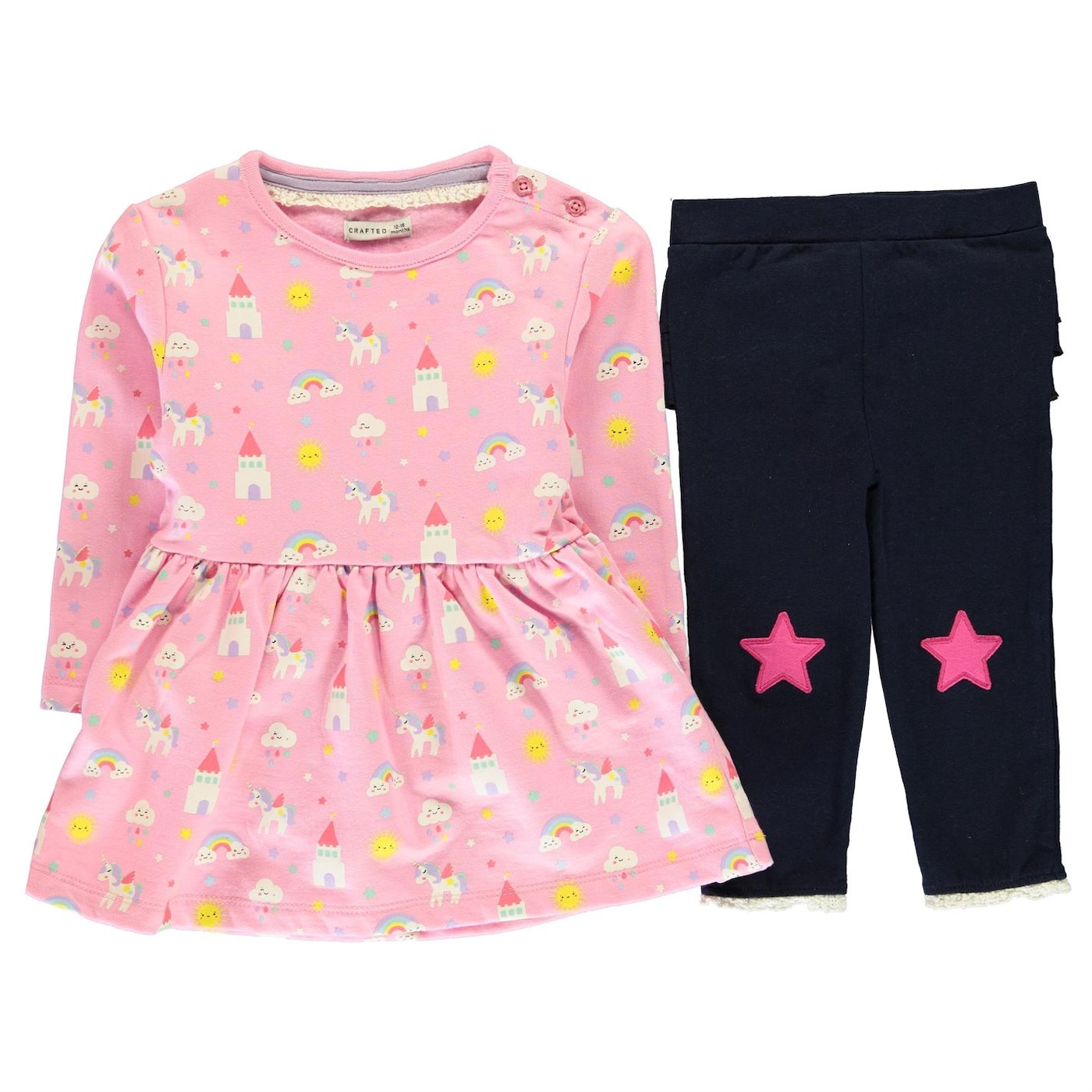 Crafted Mini 2 Piece Set Baby Girls