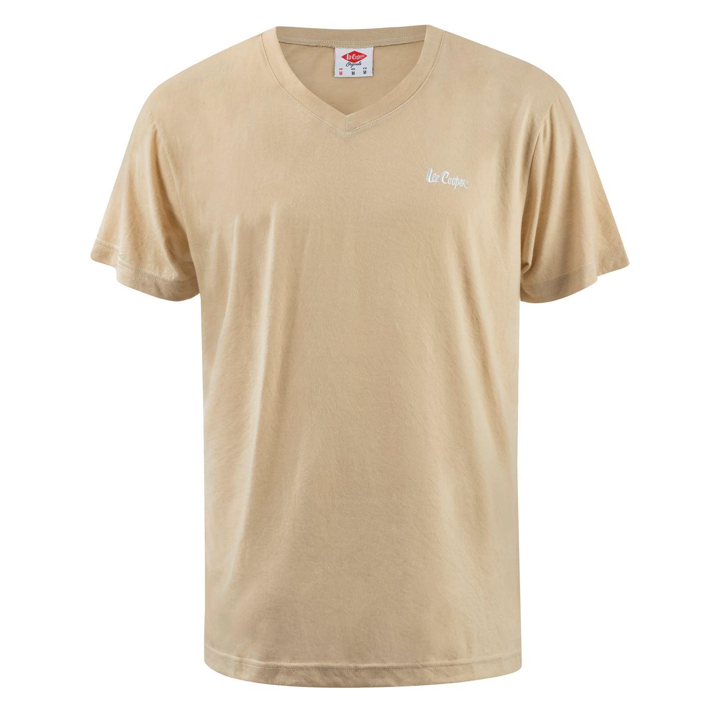 Lee Cooper V Neck T Shirt Mens