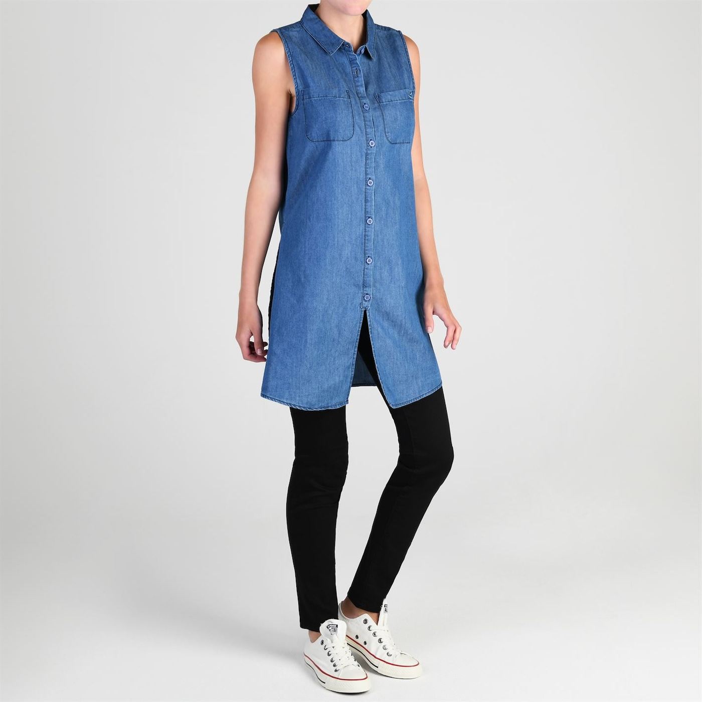 Triko SoulCal Long Line Shirt dámské