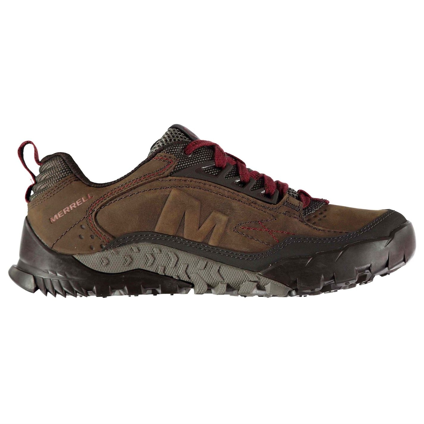 Merrell Annex TRAK Low Mens Walking Shoes Brown Nubuck Leather Vibram Sole