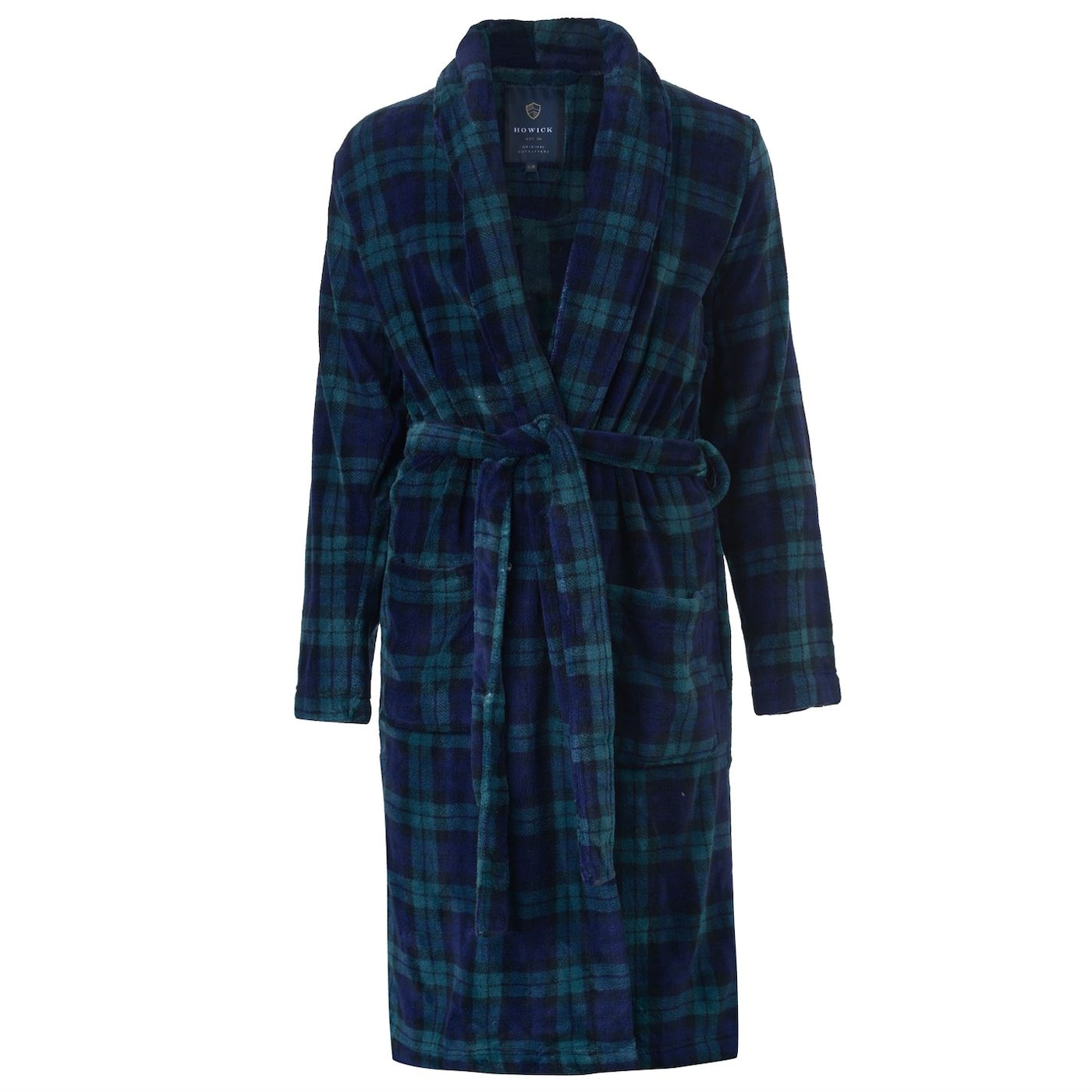 Howick Blackwatch Check Fleece Dressing Gown