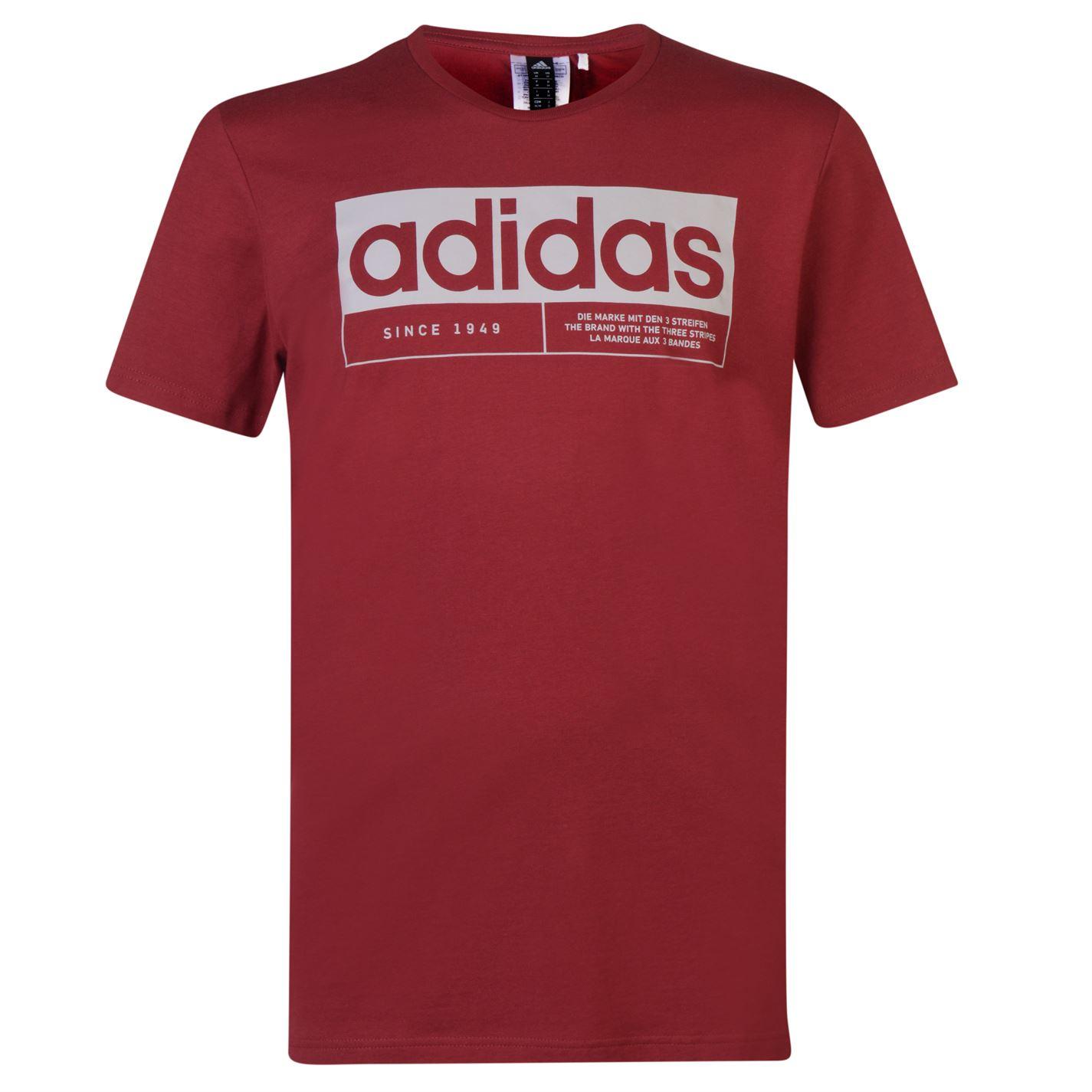 Adidas New Box Linear QT T Shirt Mens