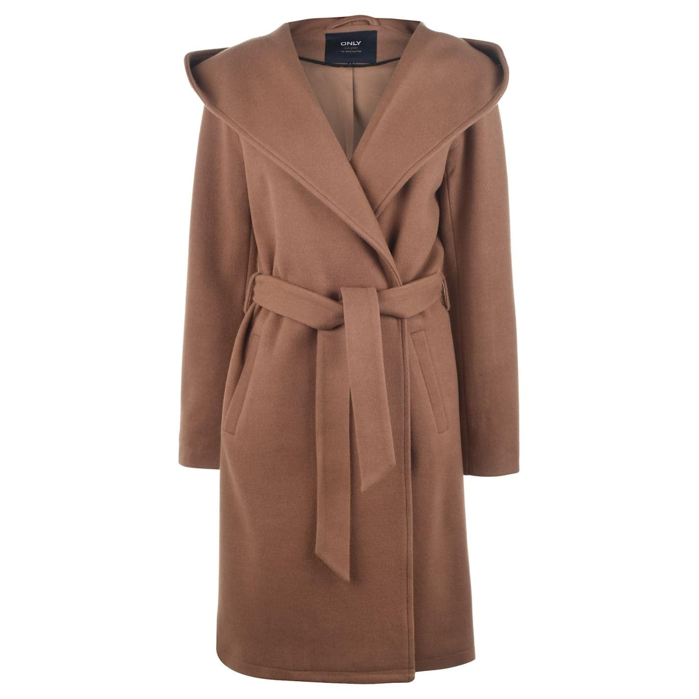 Only Riley Wool Blend Wrap Coat