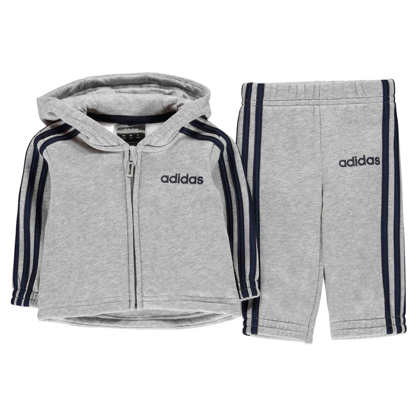 Adidas 3 Stripe Hoodie Tracksuit Baby Boys