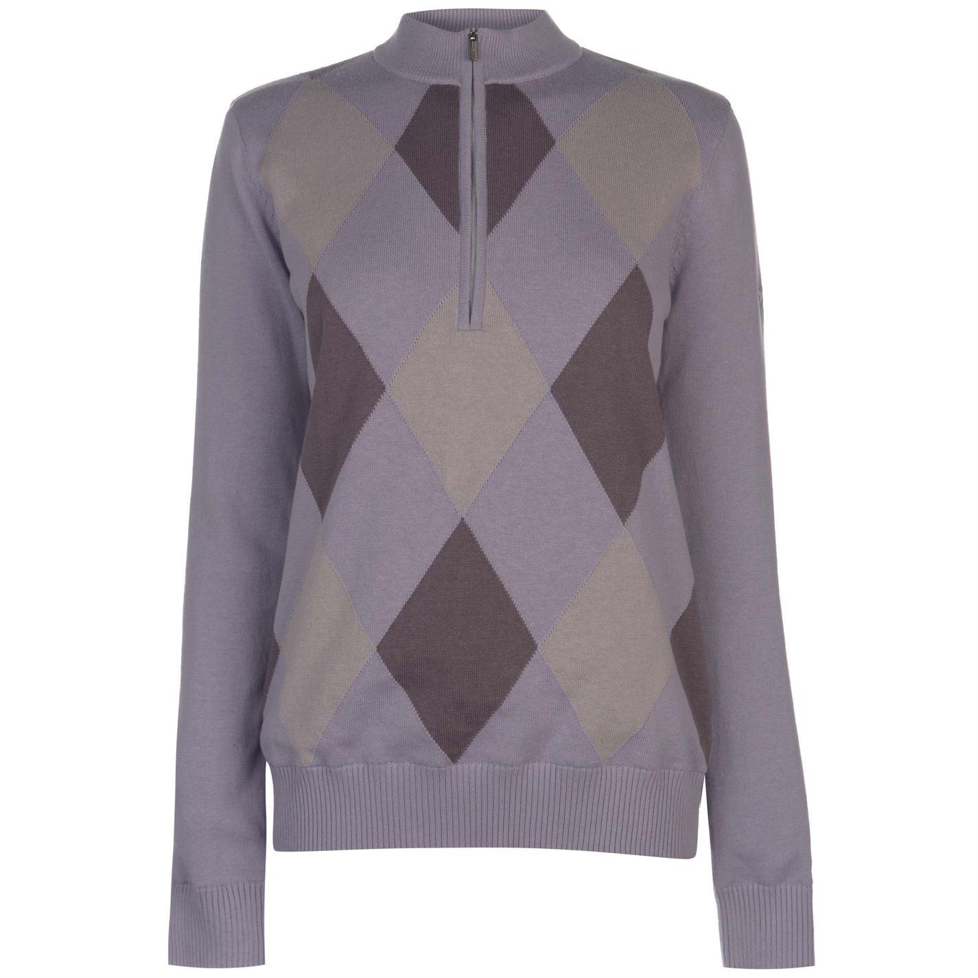Slazenger half  Zip Argyle Lined Pullover Ladies
